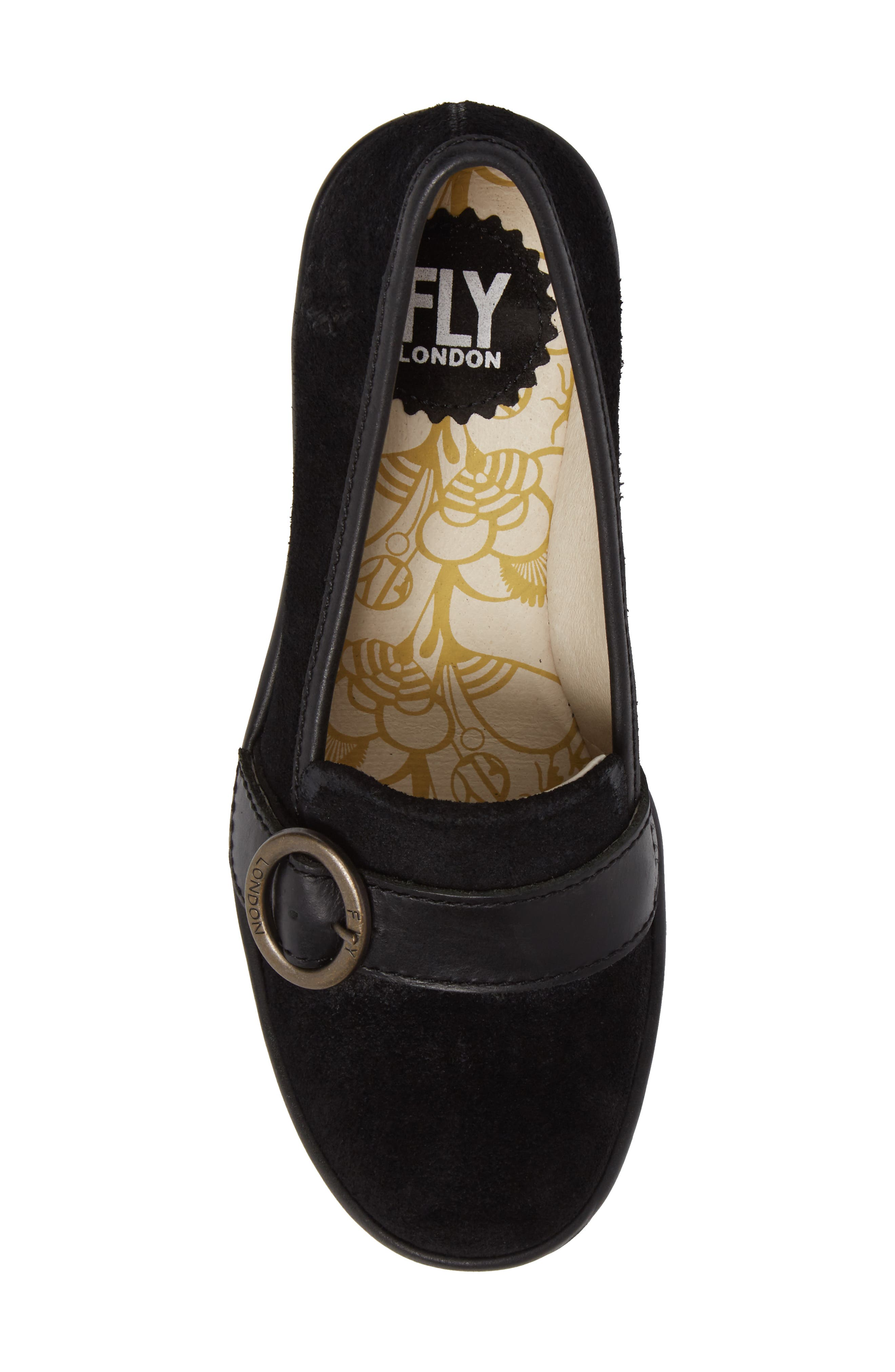 Yond Wedge,                             Alternate thumbnail 5, color,                             Black Suede
