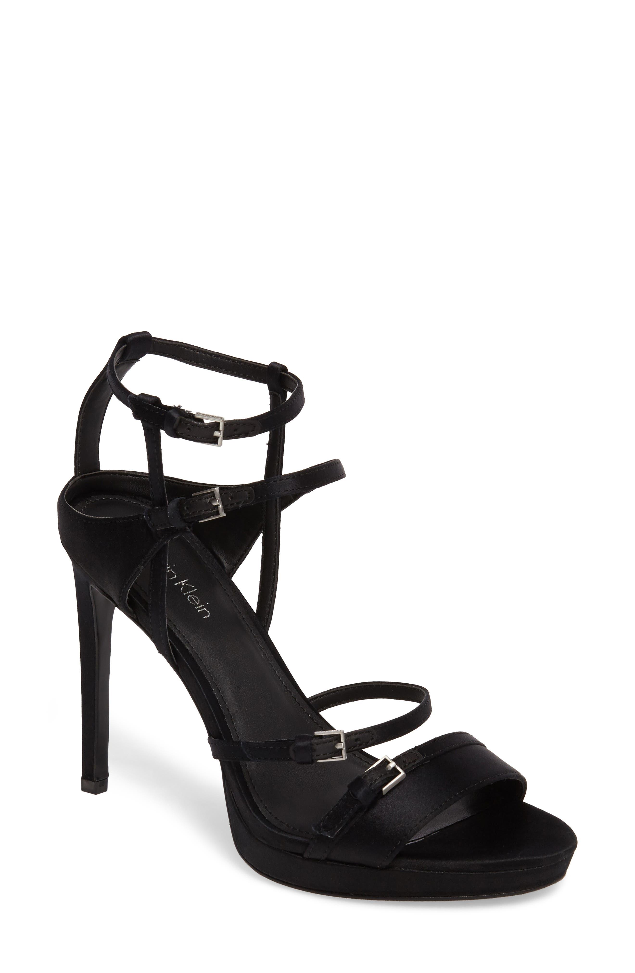 Alternate Image 1 Selected - Calvin Klein Shantell Strappy Platform Sandal (Women)
