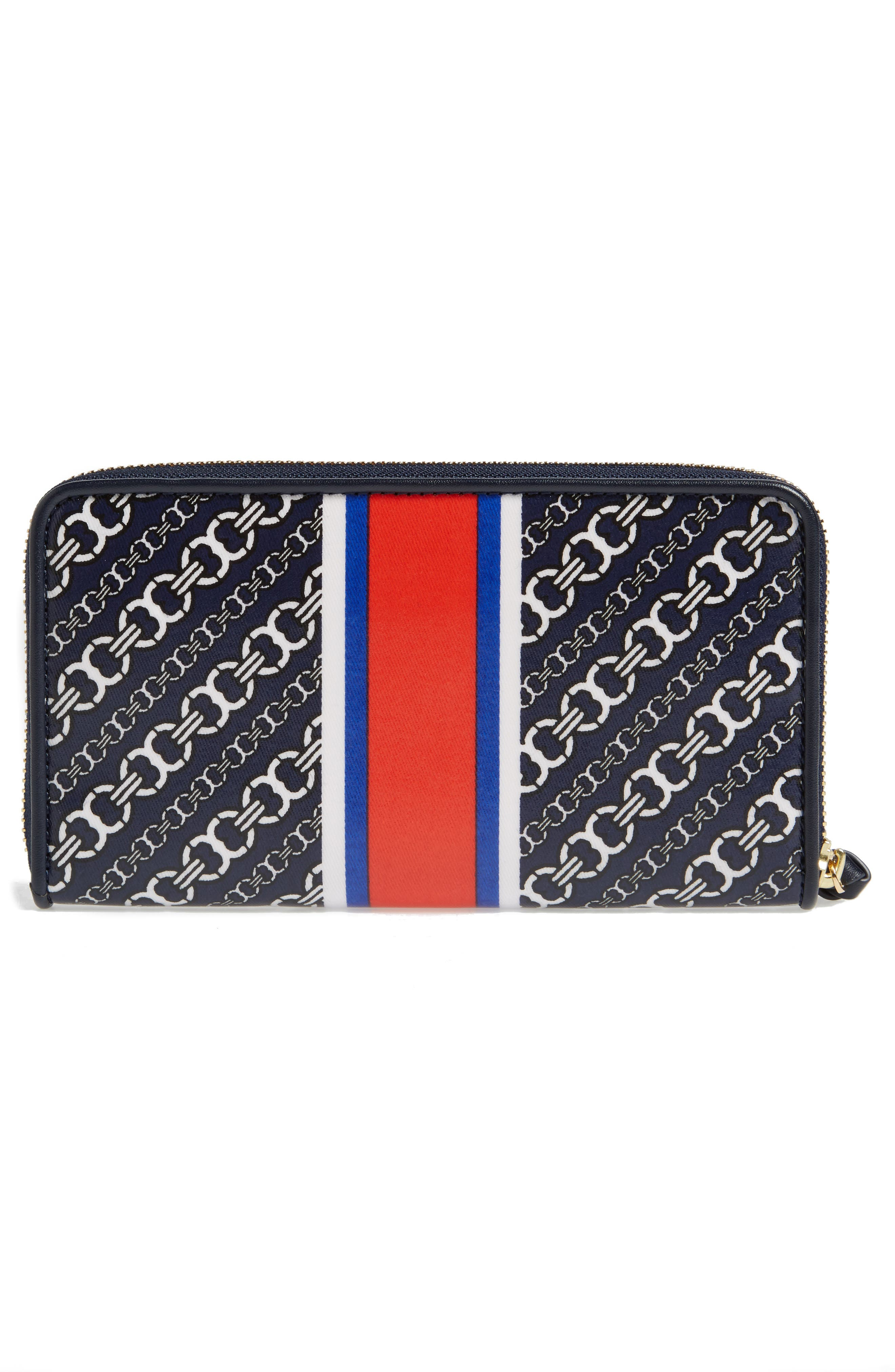 Alternate Image 2  - Tory Burch Gemini Link Coated Canvas Continental Wallet