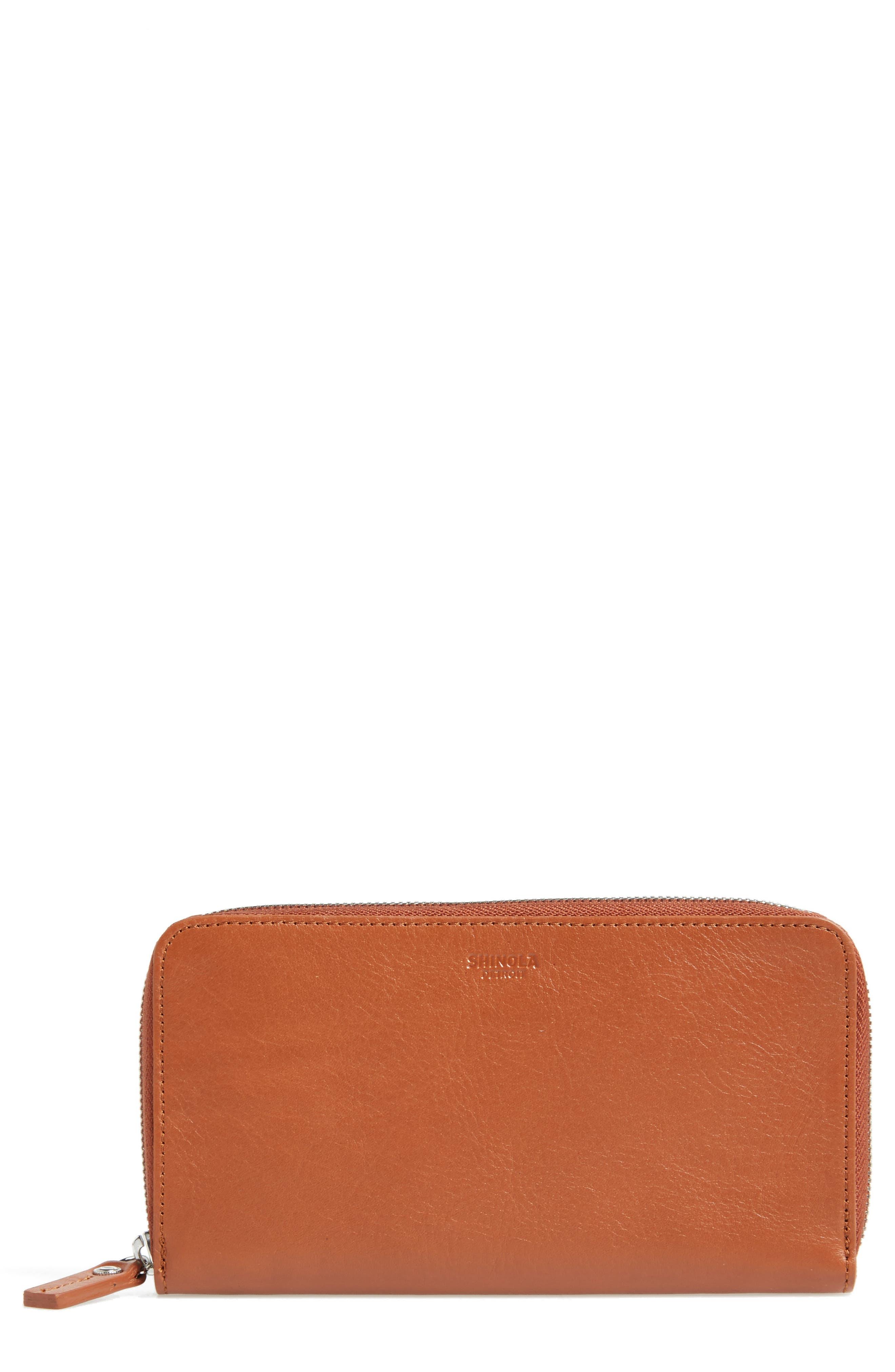SHINOLA Signature Lea Leather Continental Wallet