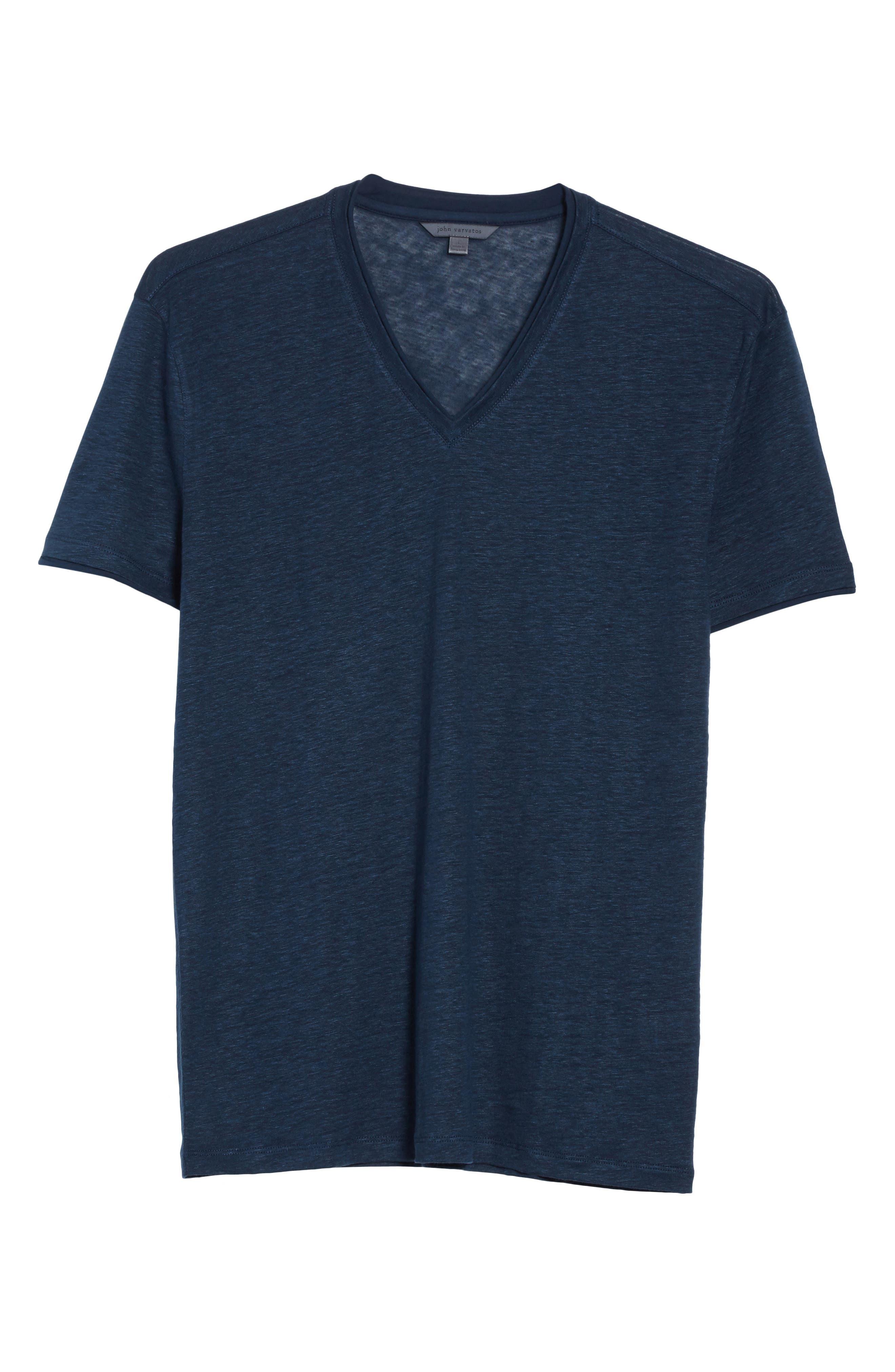 Alternate Image 6  - John Varvatos Collection Linen V-Neck T-Shirt