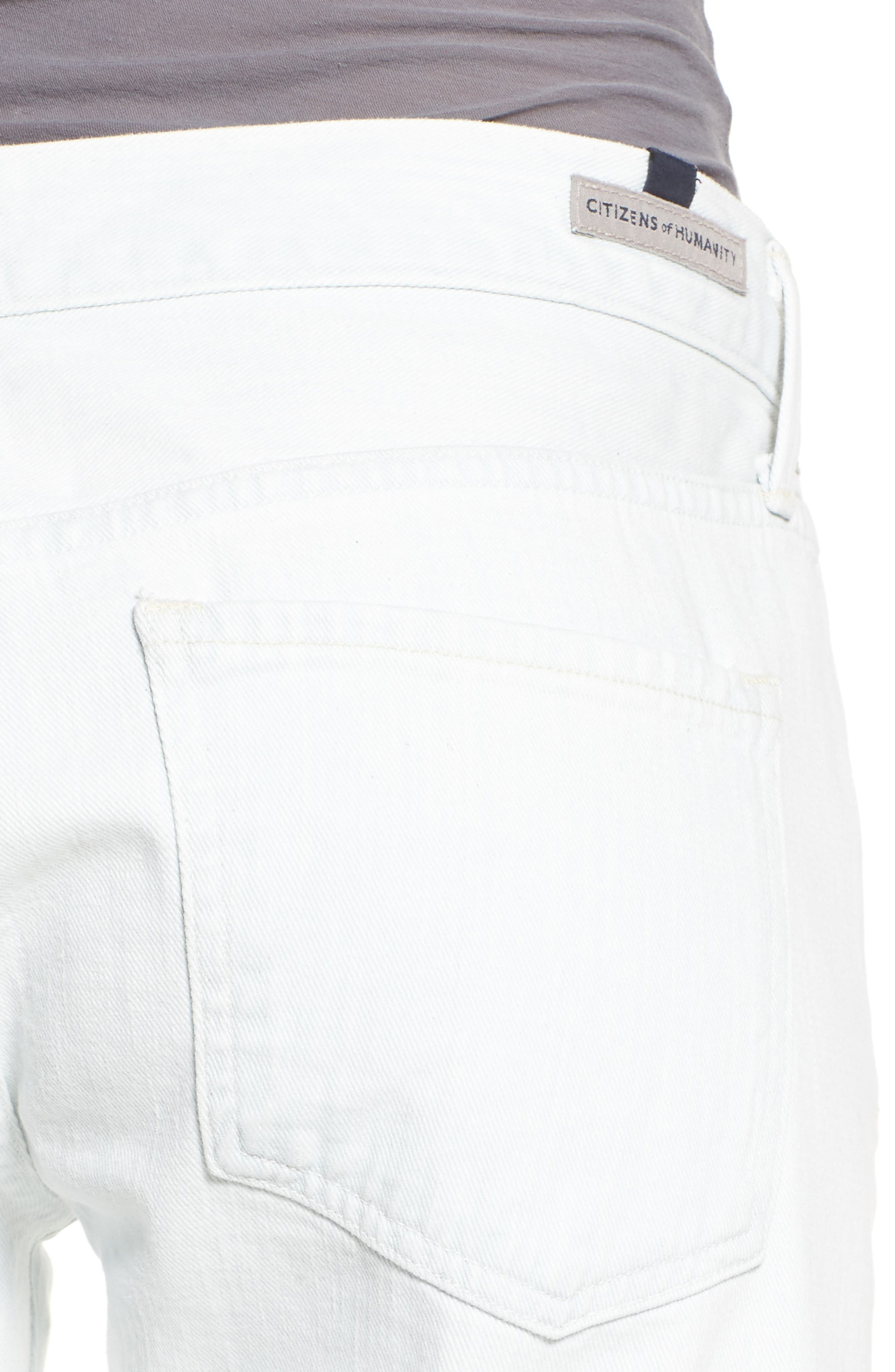 Emerson Slim Boyfriend Jeans,                             Alternate thumbnail 4, color,                             Blue Crush