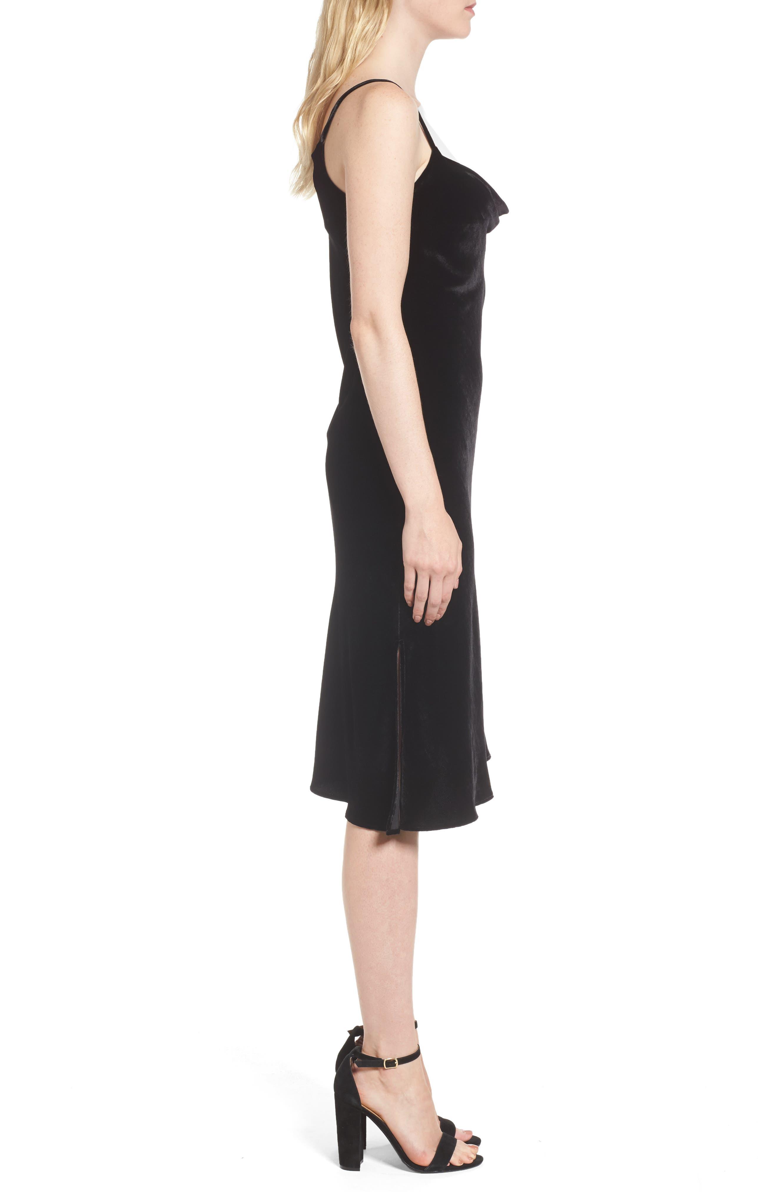 Alternate Image 3  - AG Gia Velvet Slipdress