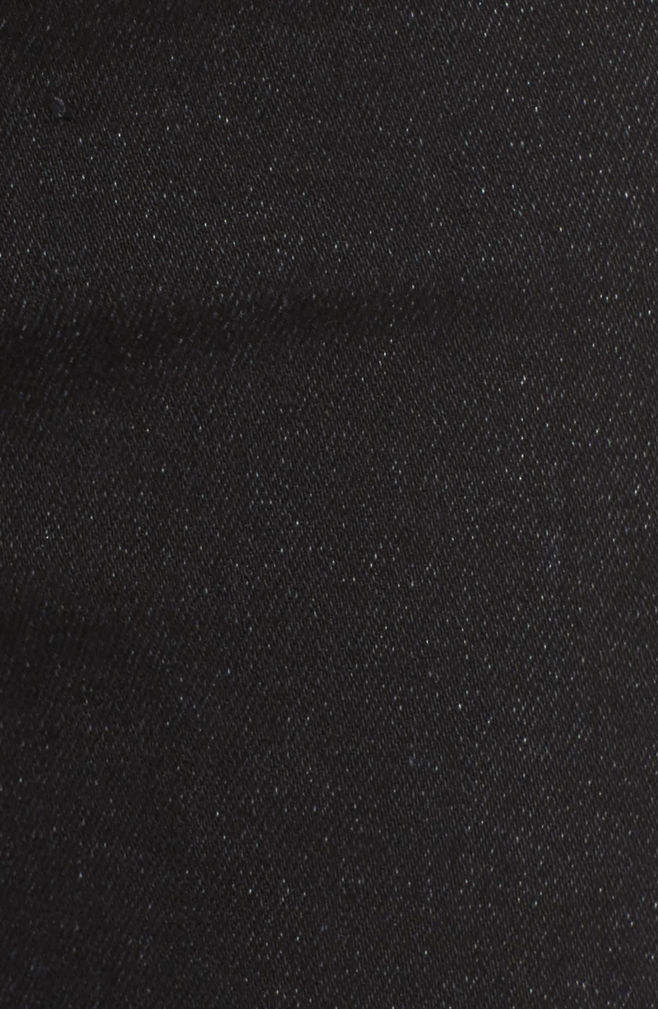 Swooner Dagger Ankle Skinny Jeans,                             Alternate thumbnail 5, color,                             Baa Baa Black Sheep