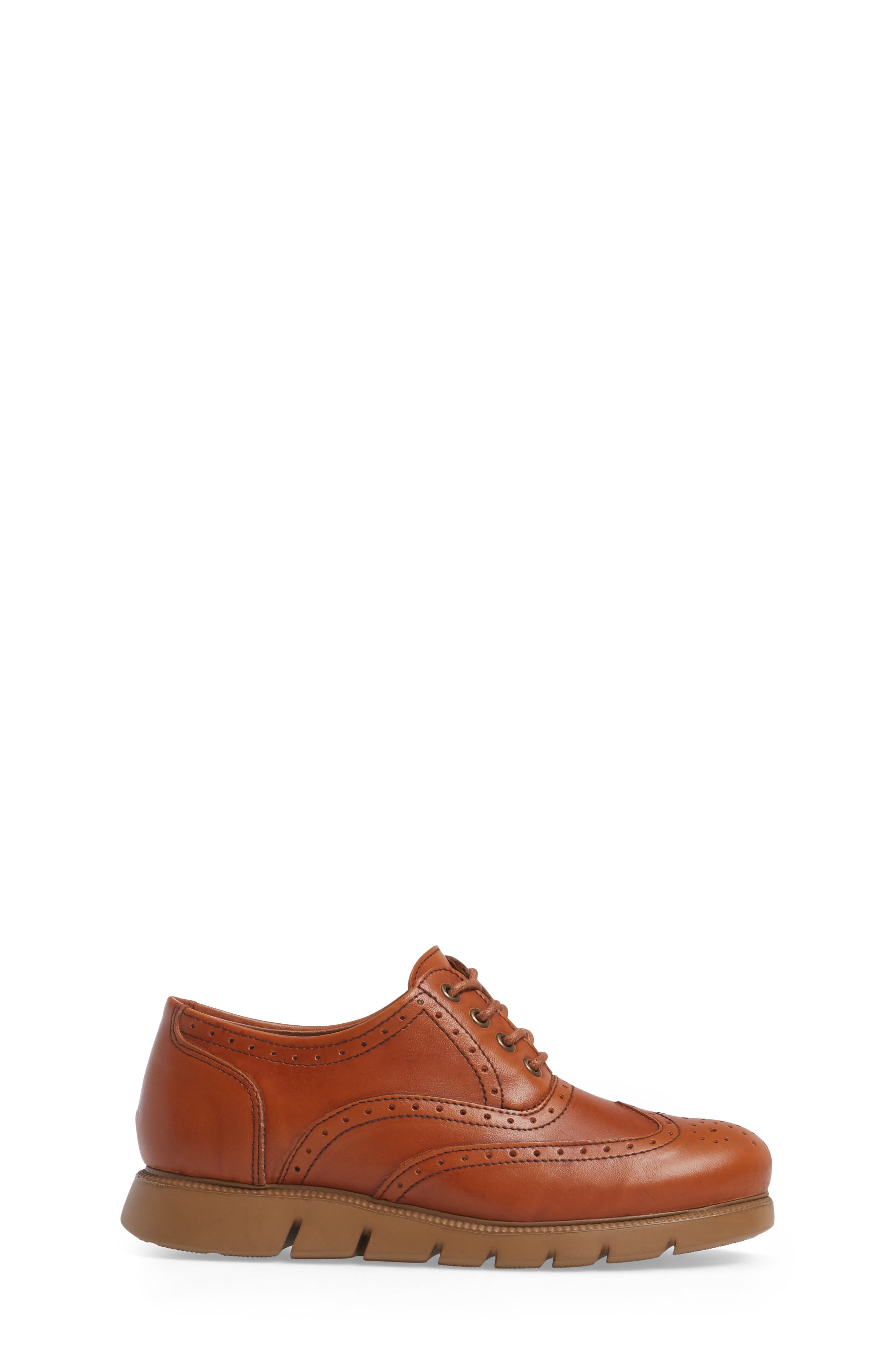 Warble Wingtip Oxford,                             Alternate thumbnail 3, color,                             Naturale