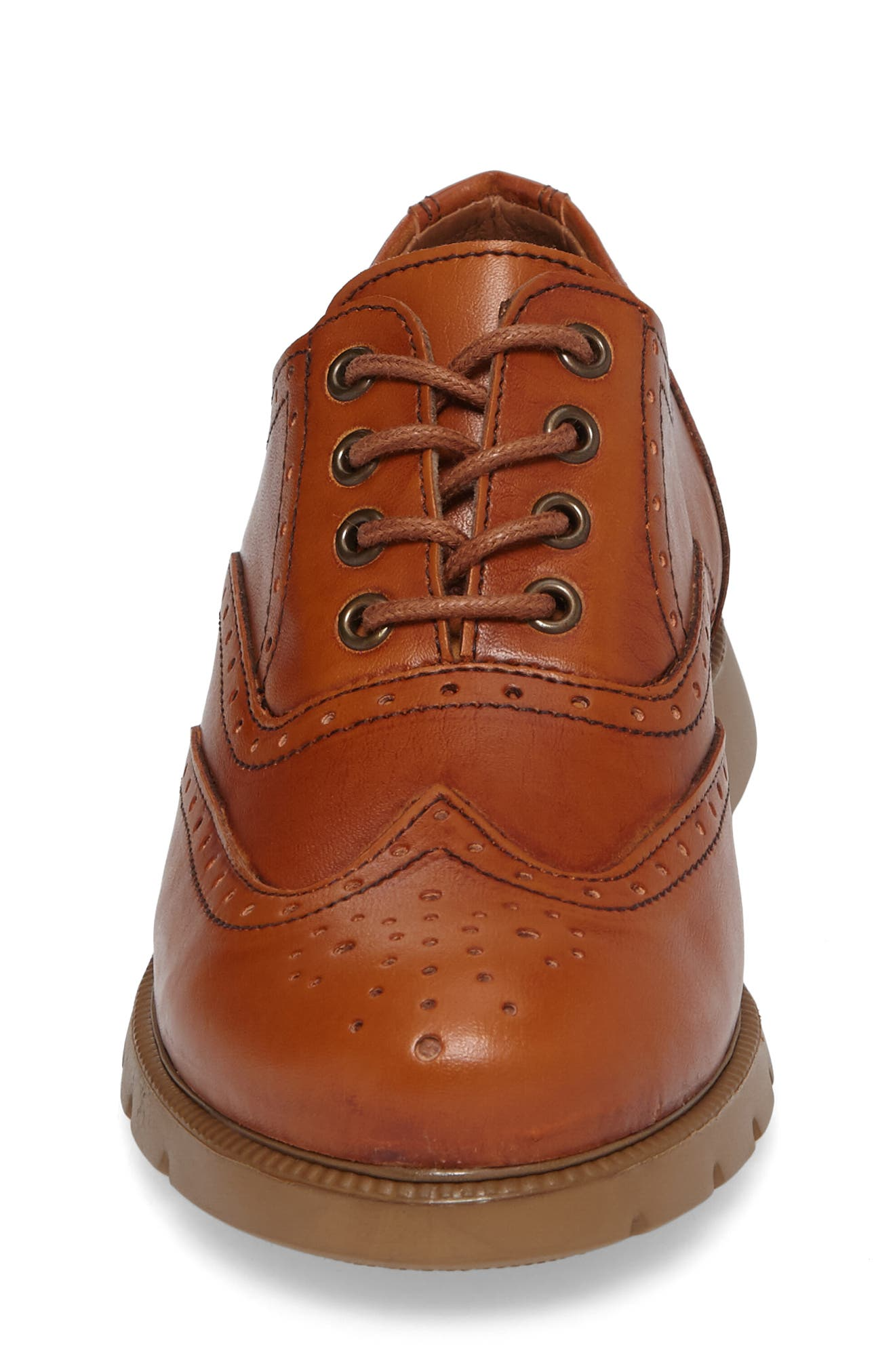 Warble Wingtip Oxford,                             Alternate thumbnail 4, color,                             Naturale