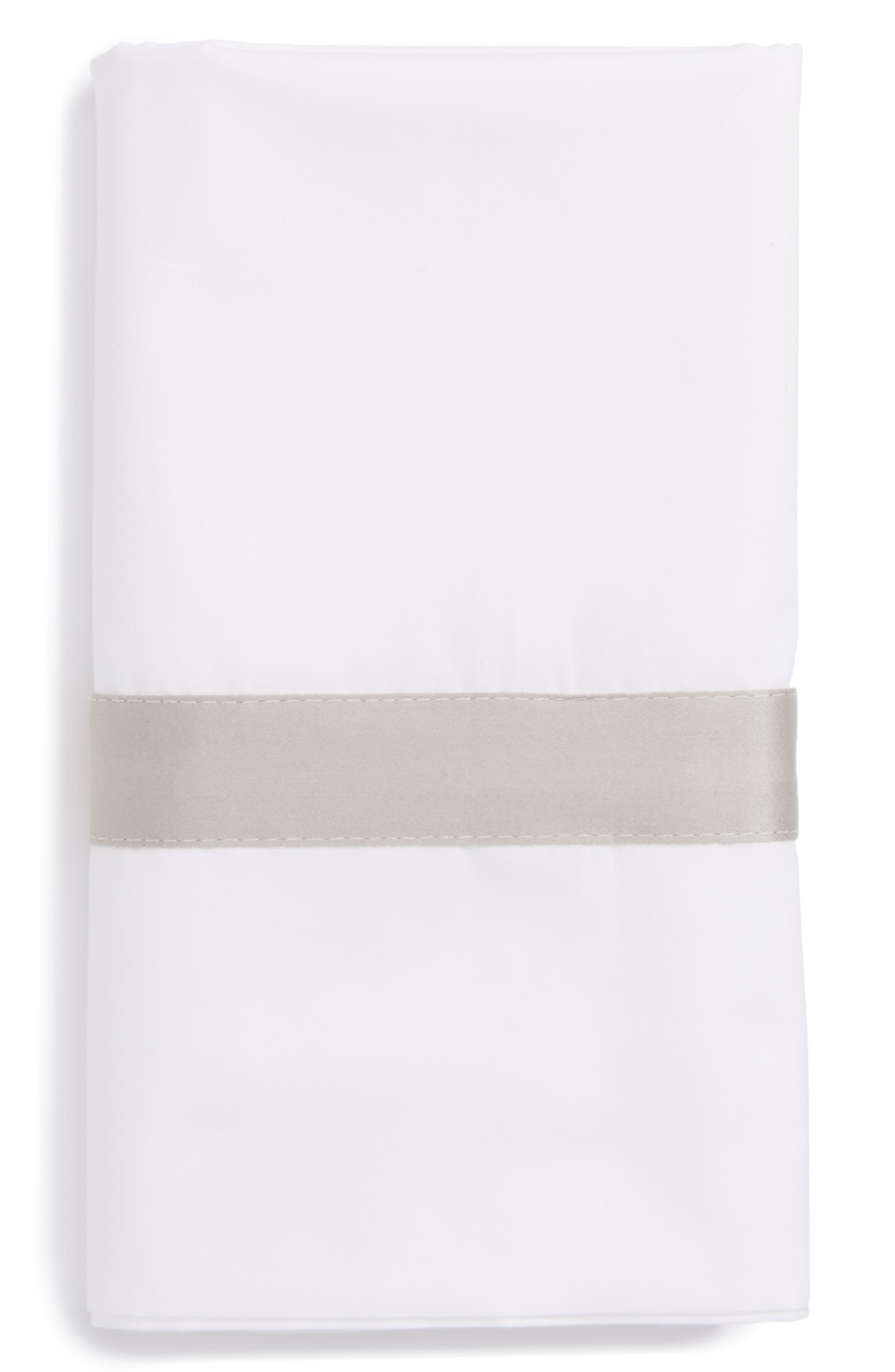 Lowell 600 Thread Count Pillowcase,                         Main,                         color, Silver
