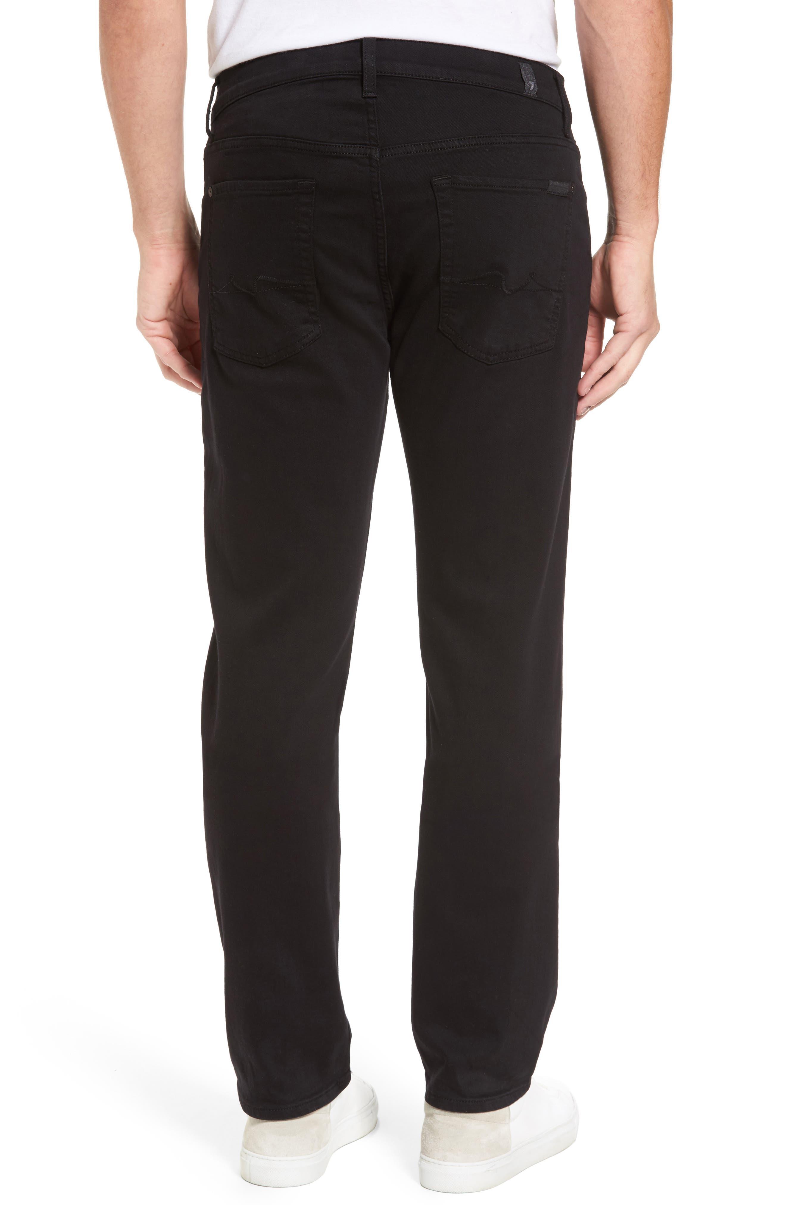 The Standard Straight Leg Jeans,                             Alternate thumbnail 2, color,                             Annex Black