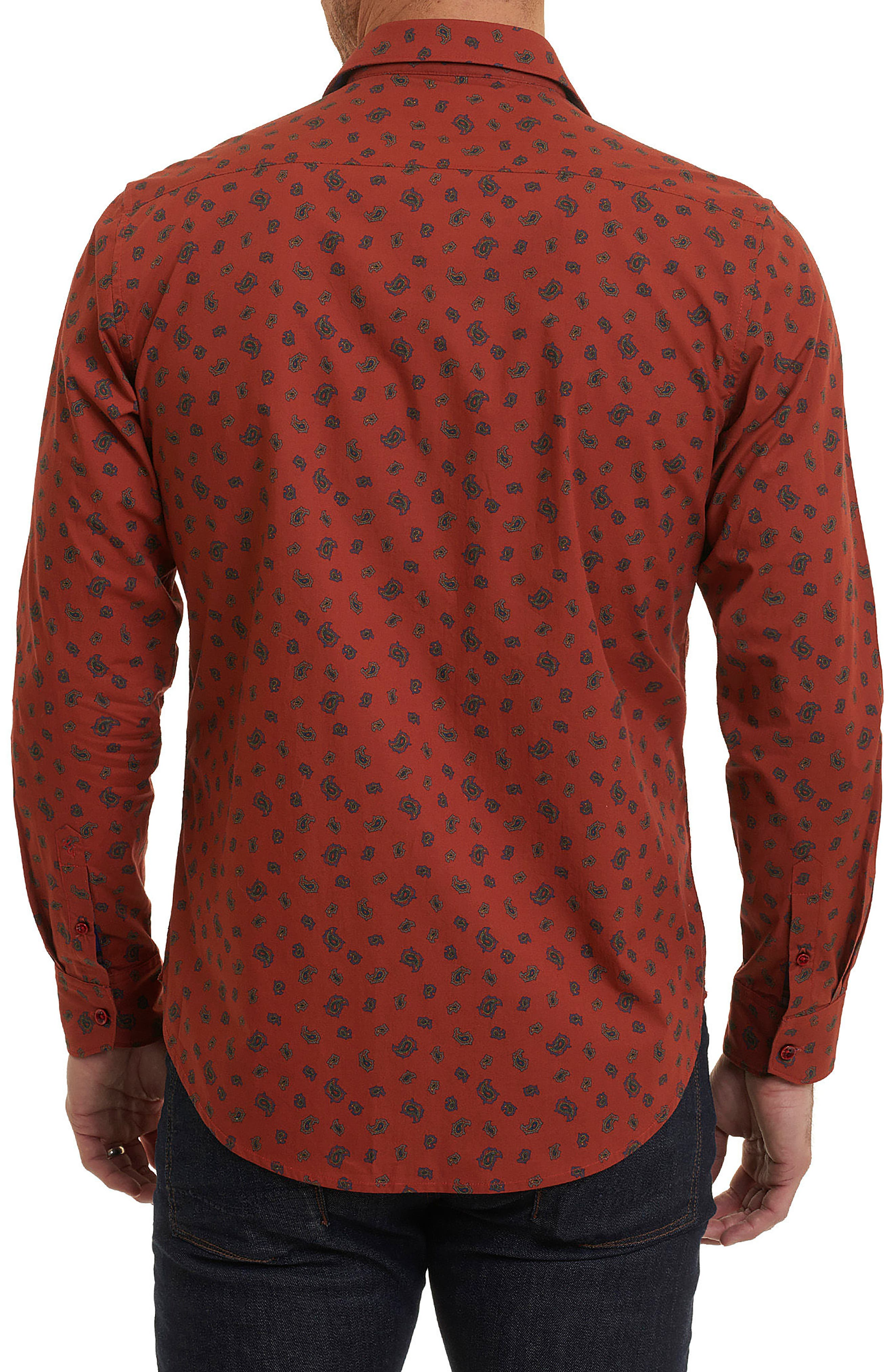 Cold Spring Classic Fit Paisley Sport Shirt,                             Alternate thumbnail 2, color,                             Red