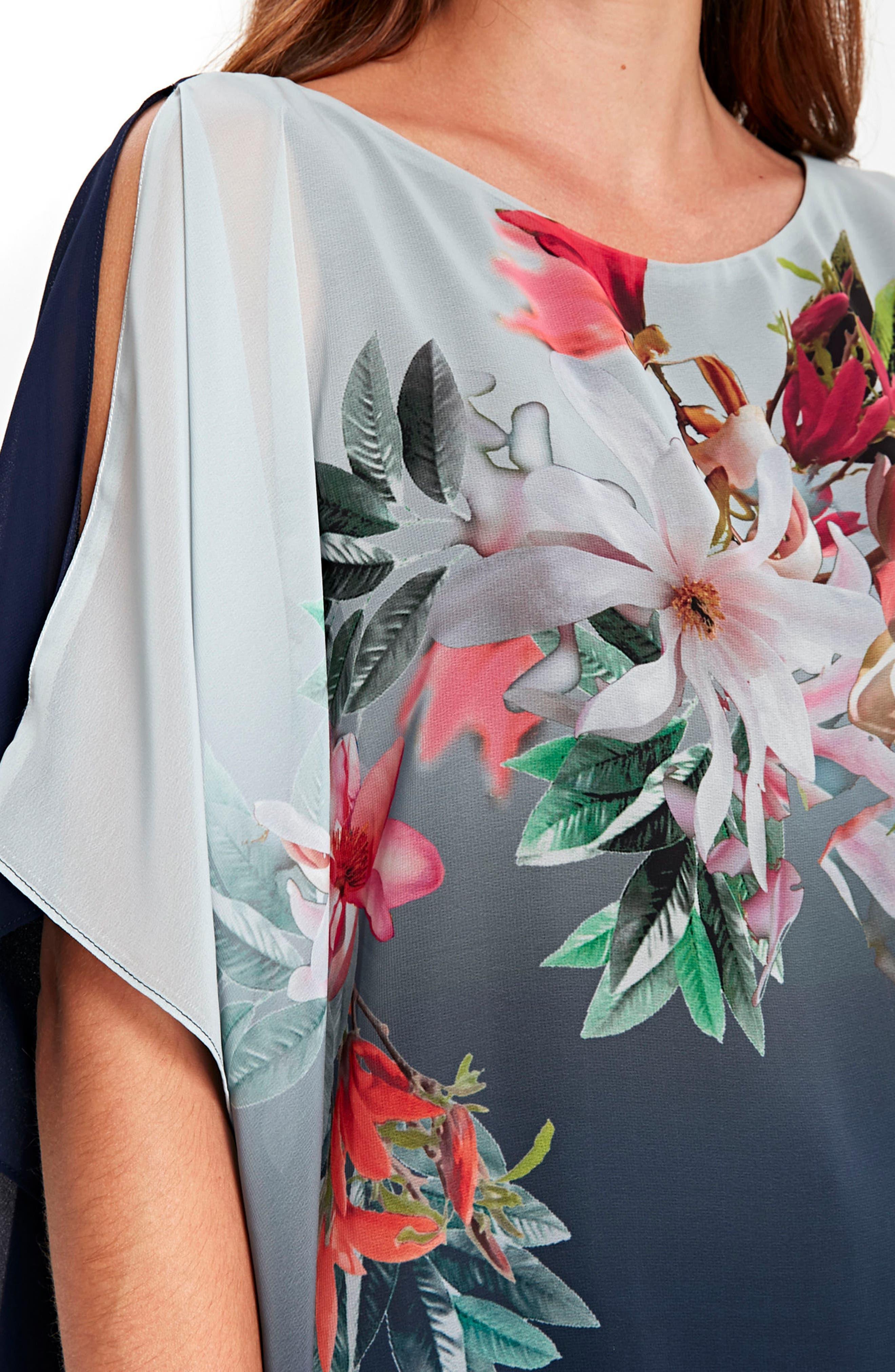 Alternate Image 4  - Wallis Ombré Floral Overlay Top