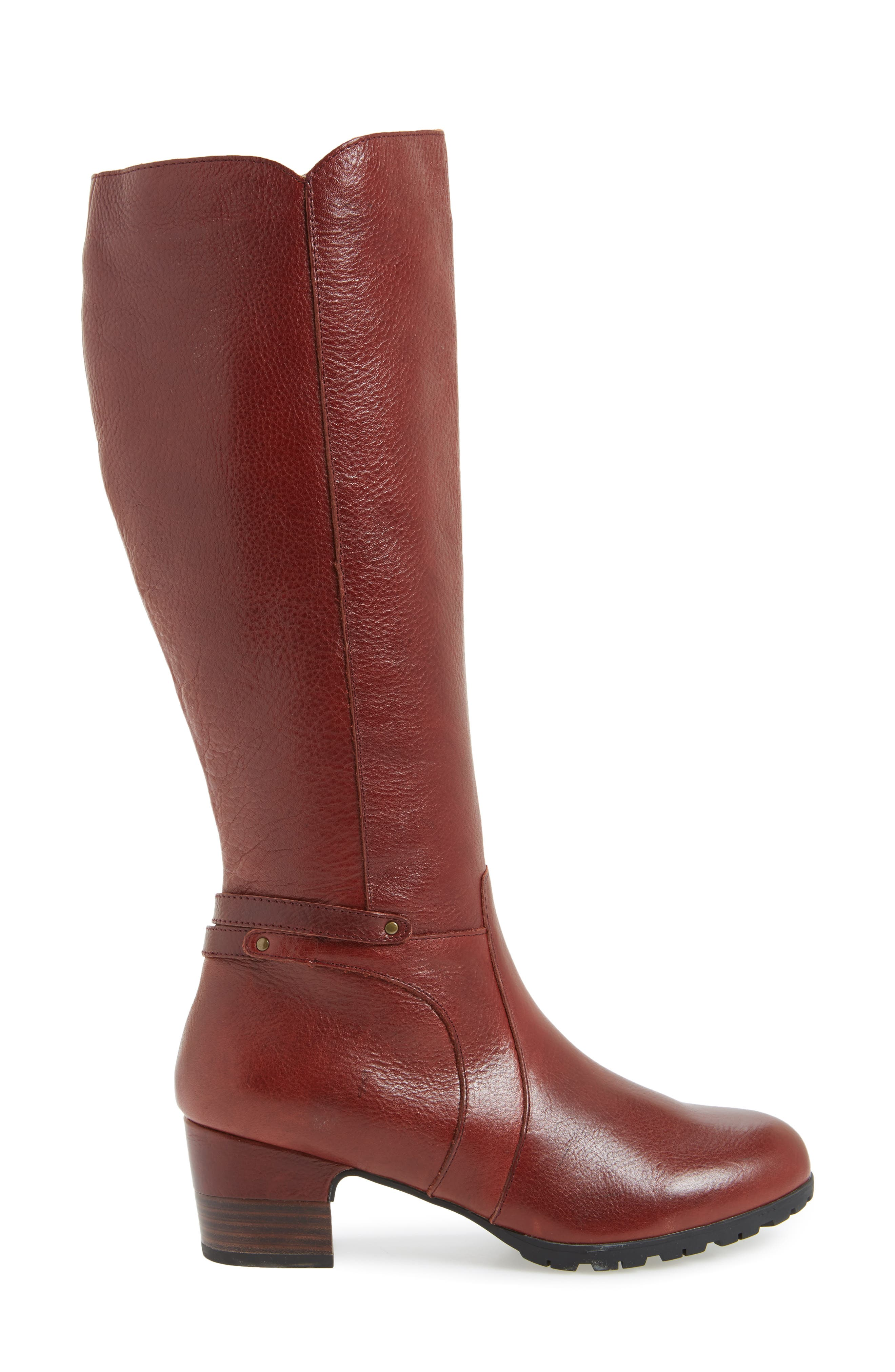 Chai Water-Resistant Boot,                             Alternate thumbnail 3, color,                             Whisky Leather