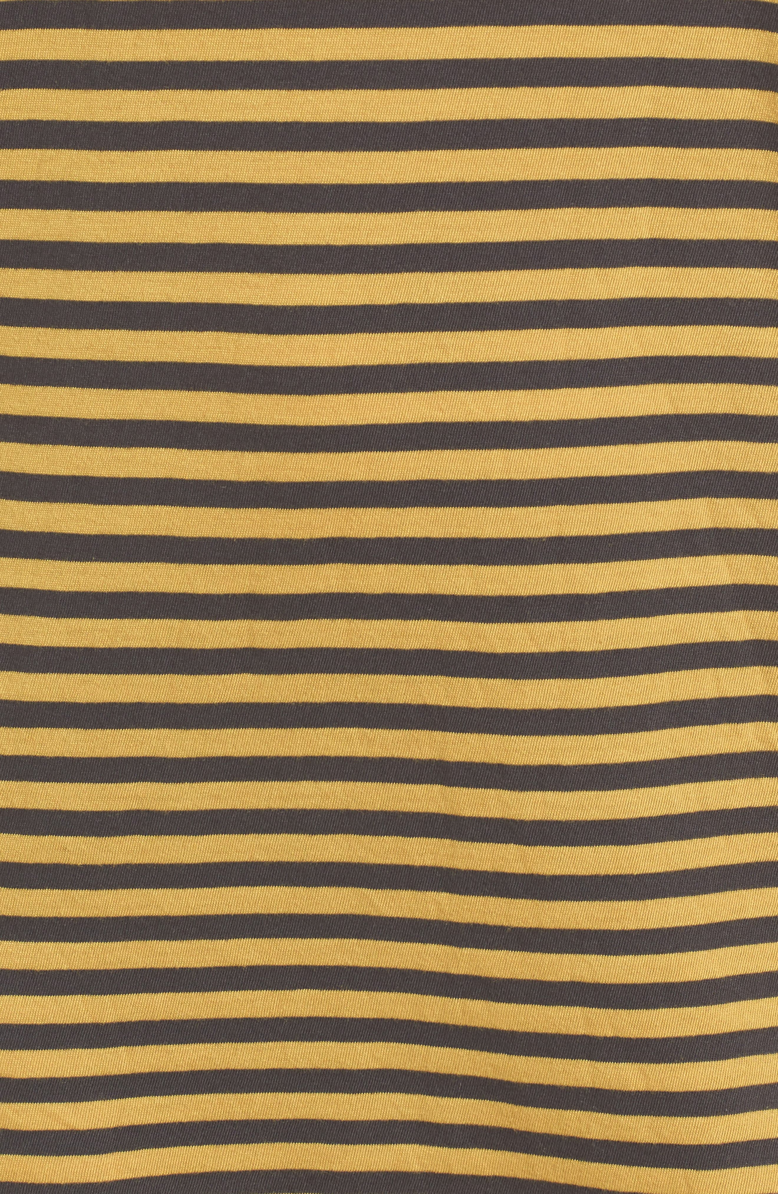 Alternate Image 5  - Stateside Mustard Stripe T-Shirt Dress