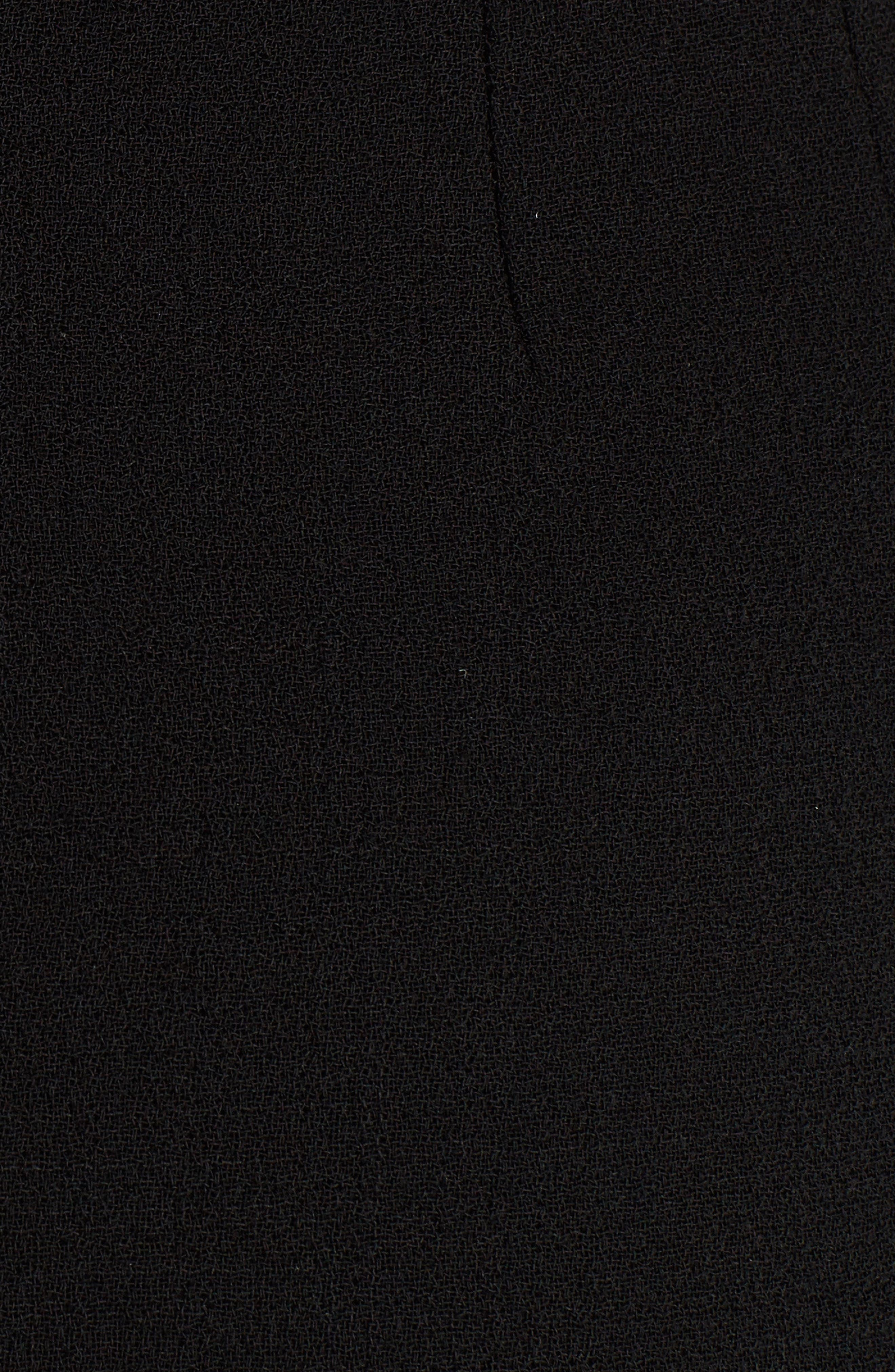Button Detail Wool Crepe Dress,                             Alternate thumbnail 5, color,                             Black
