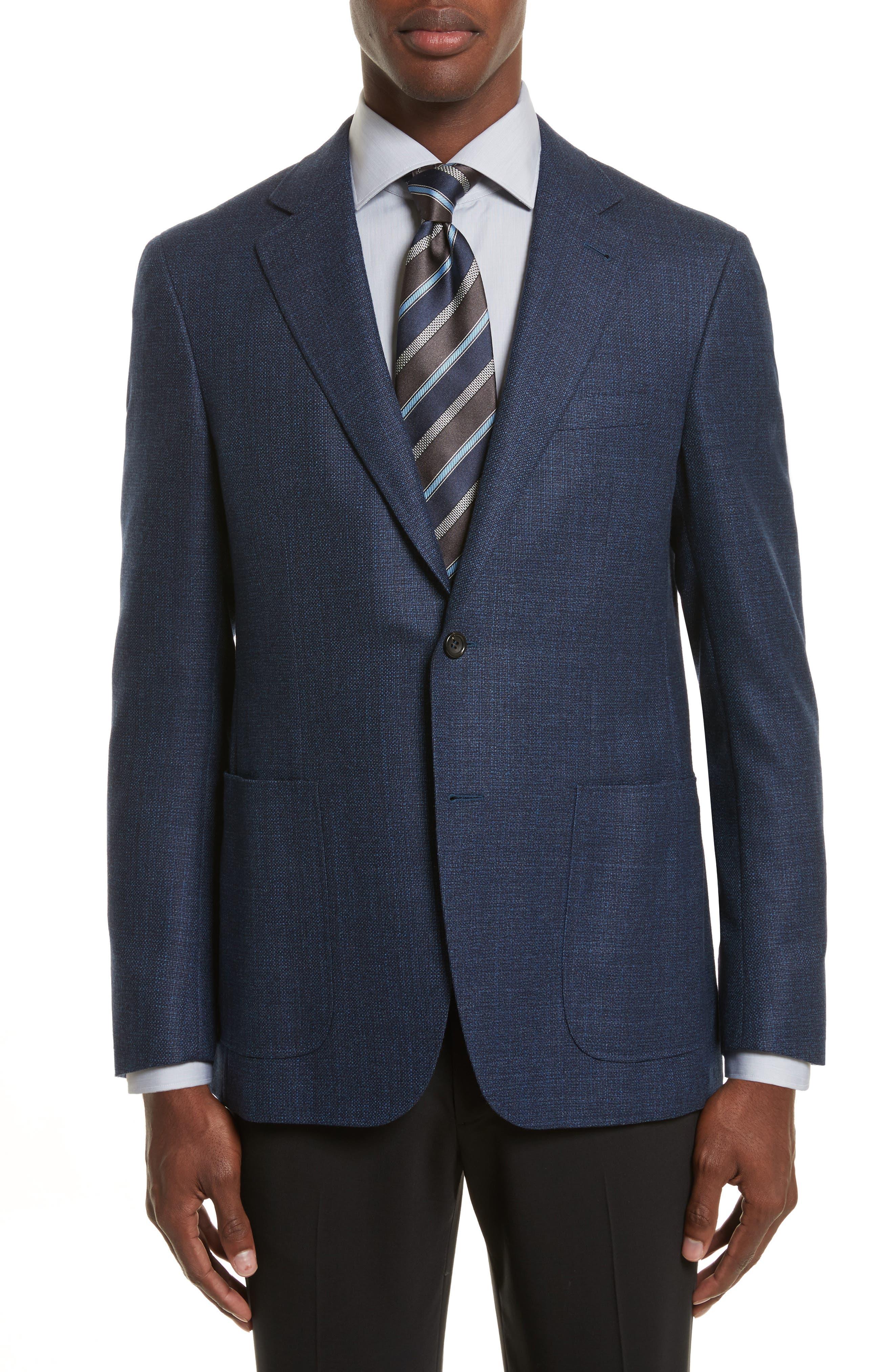 Kei Classic Fit Wool Blazer,                         Main,                         color, Blue