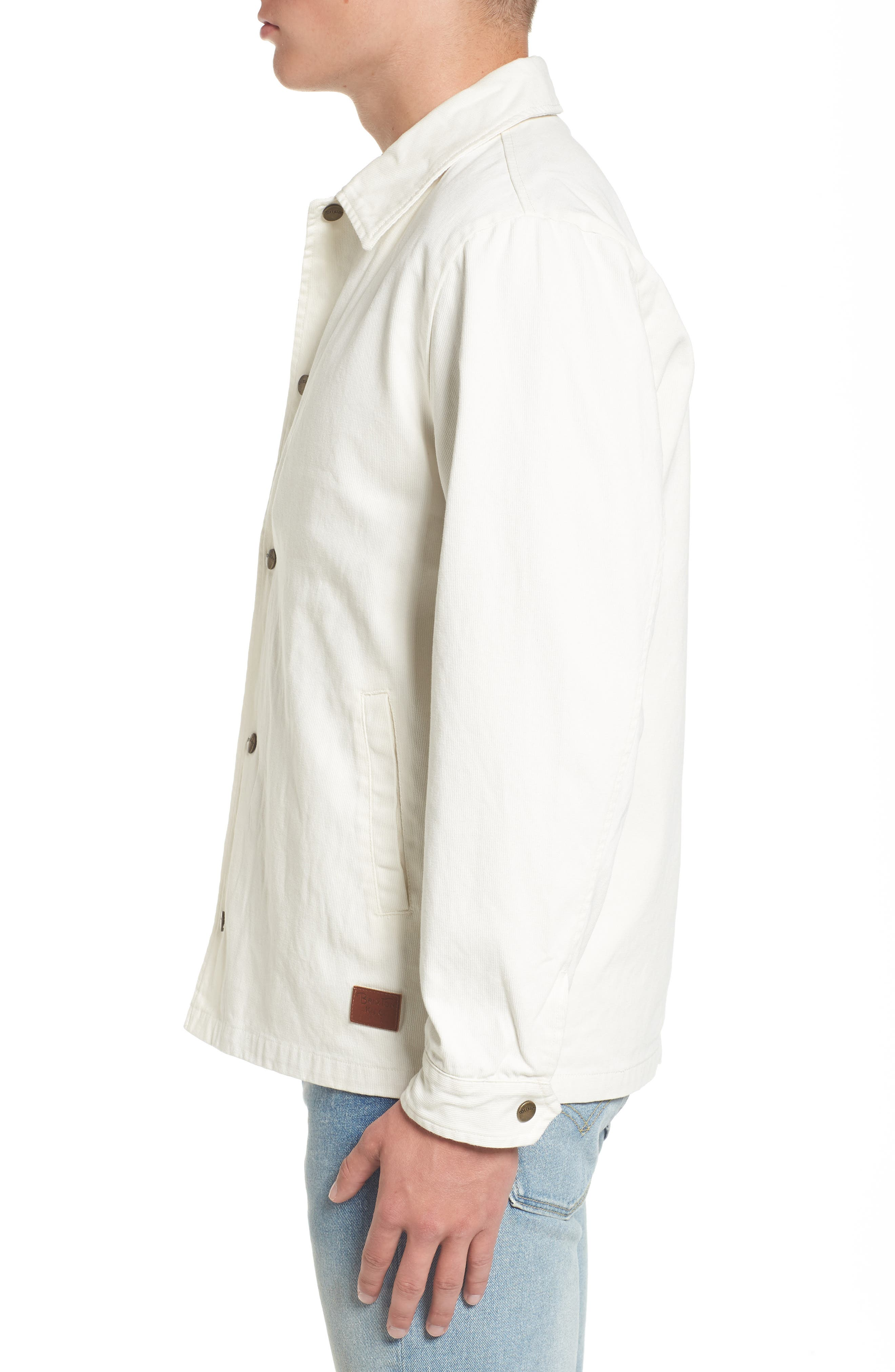 Wright Water Resistant Coach's Jacket,                             Alternate thumbnail 3, color,                             Off White