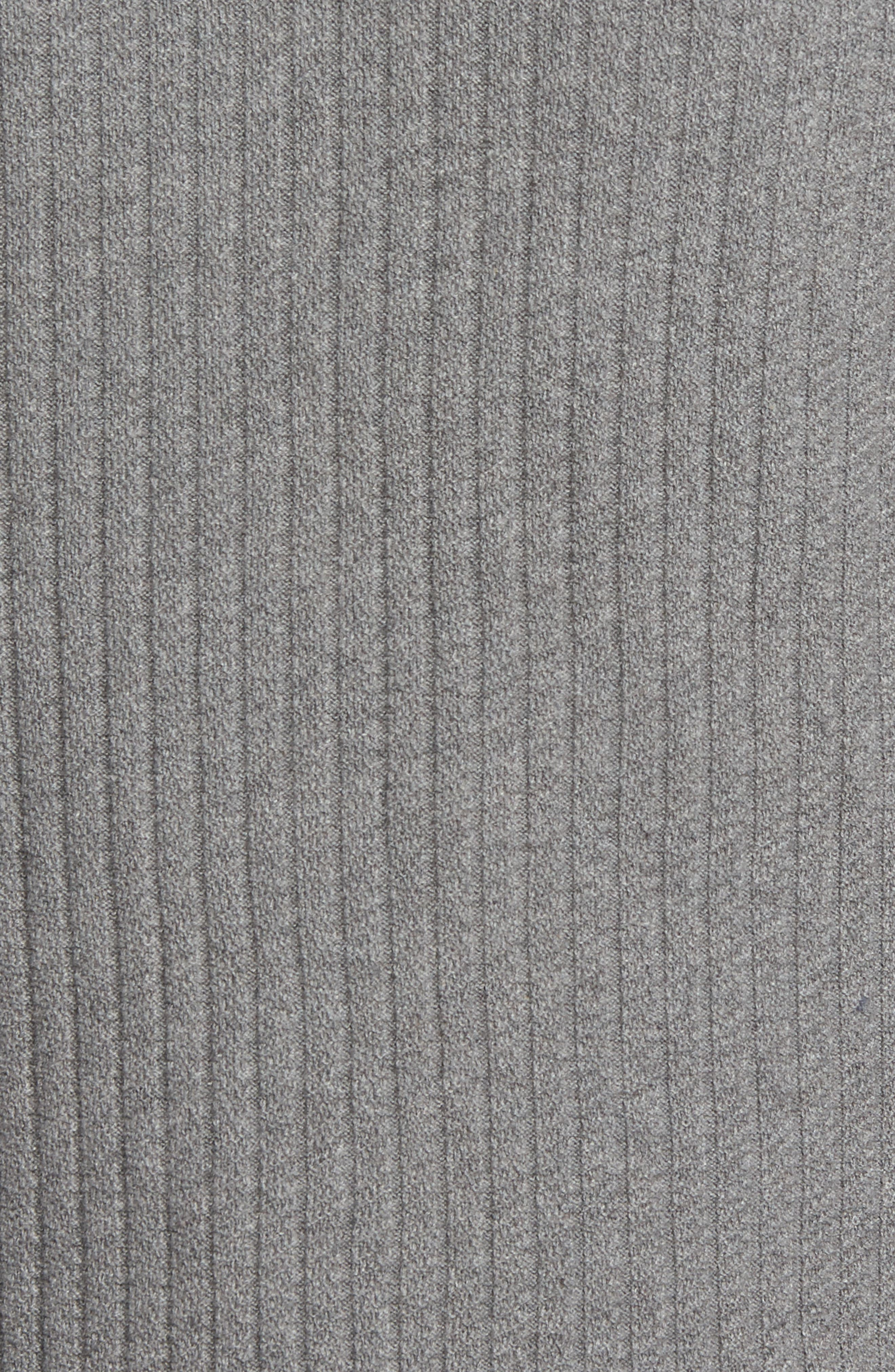 Bryant Rib-Knit V-Neck Sweater,                             Alternate thumbnail 5, color,                             Mid Grey Heather