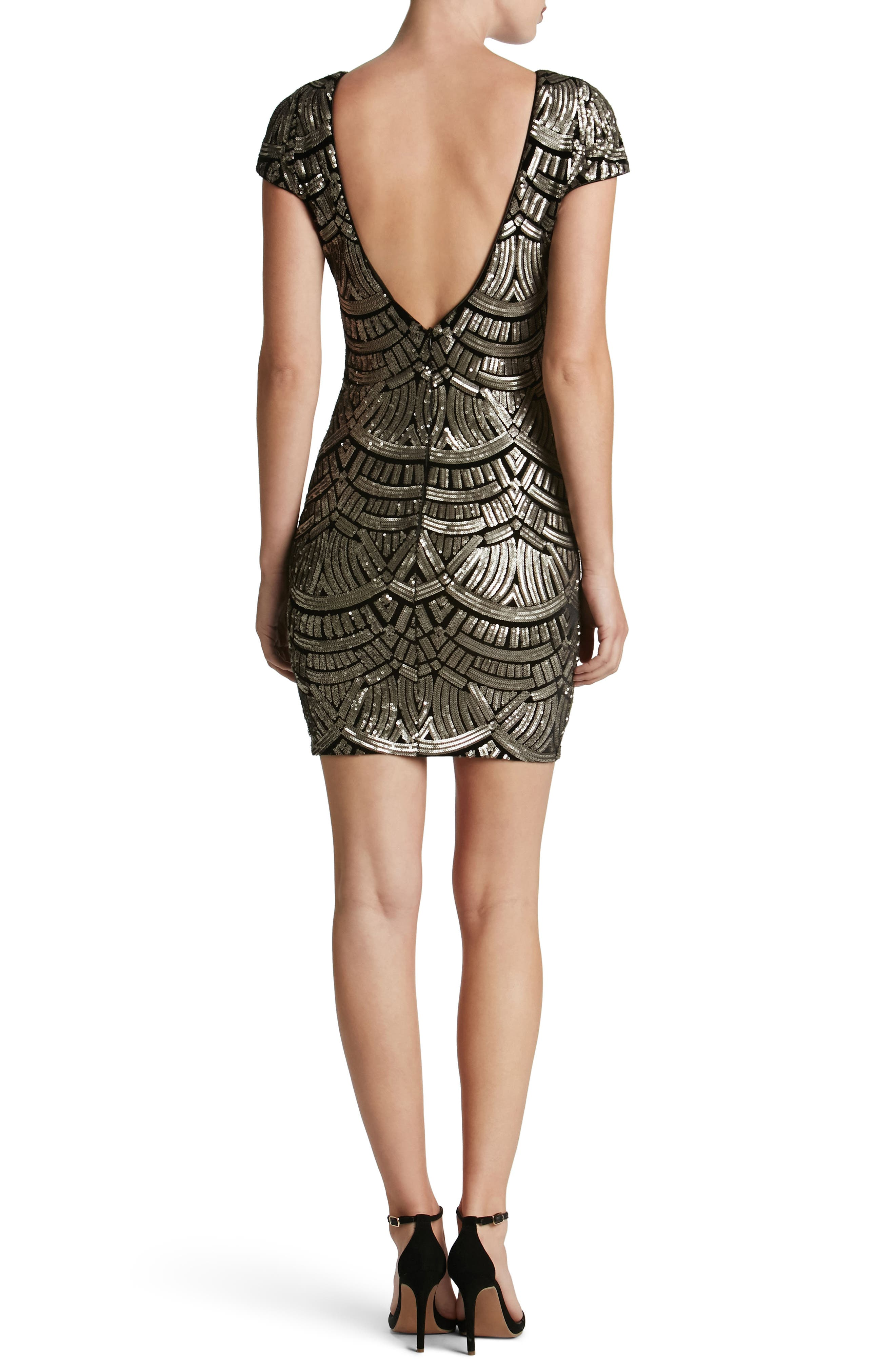 Alternate Image 2  - Dress the Population Tabitha Sequin Body-Con Dress (Nordstrom Exclusive)