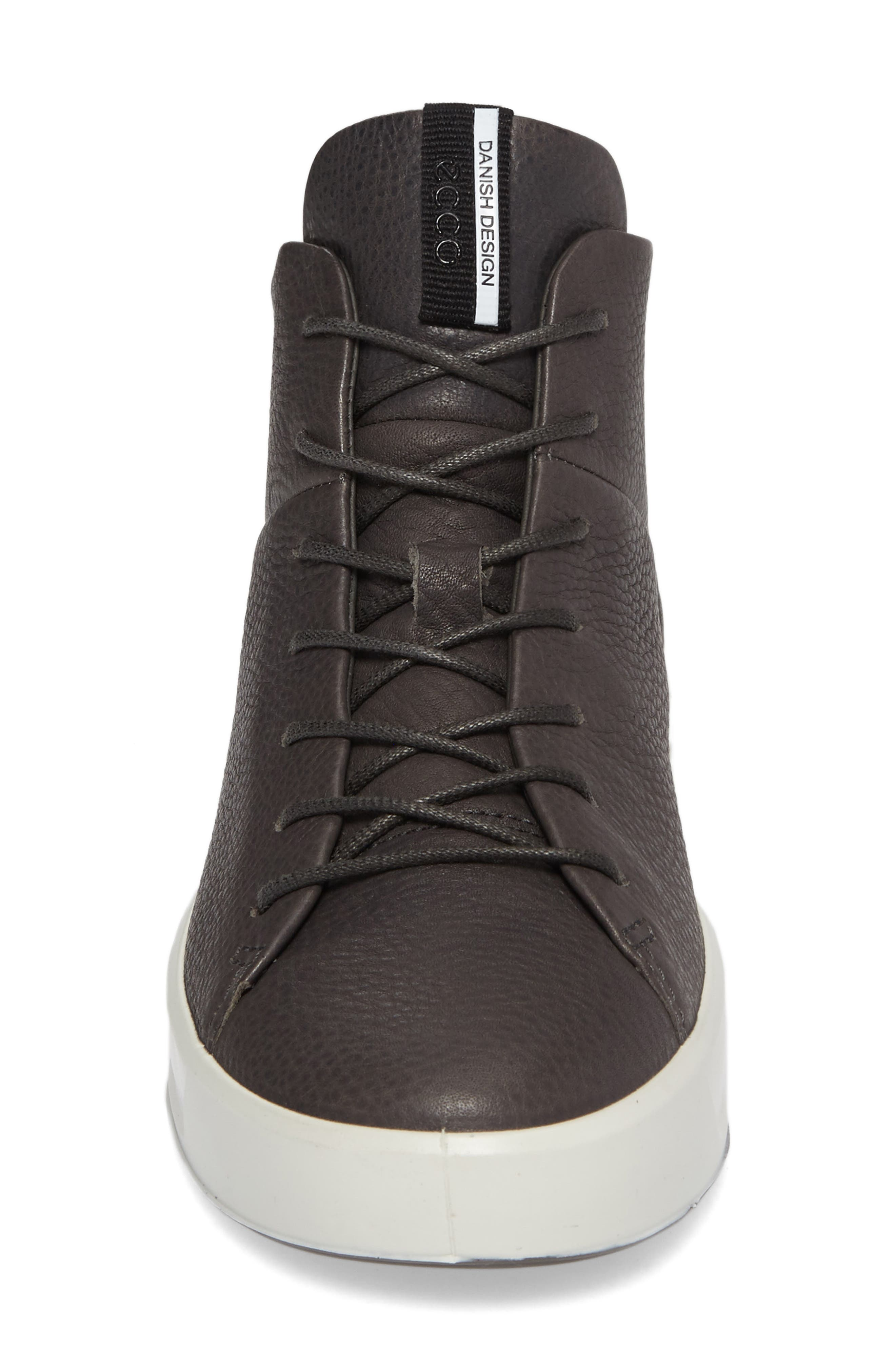 Soft 8 High Top Sneaker,                             Alternate thumbnail 4, color,                             Dark Shadow Leather