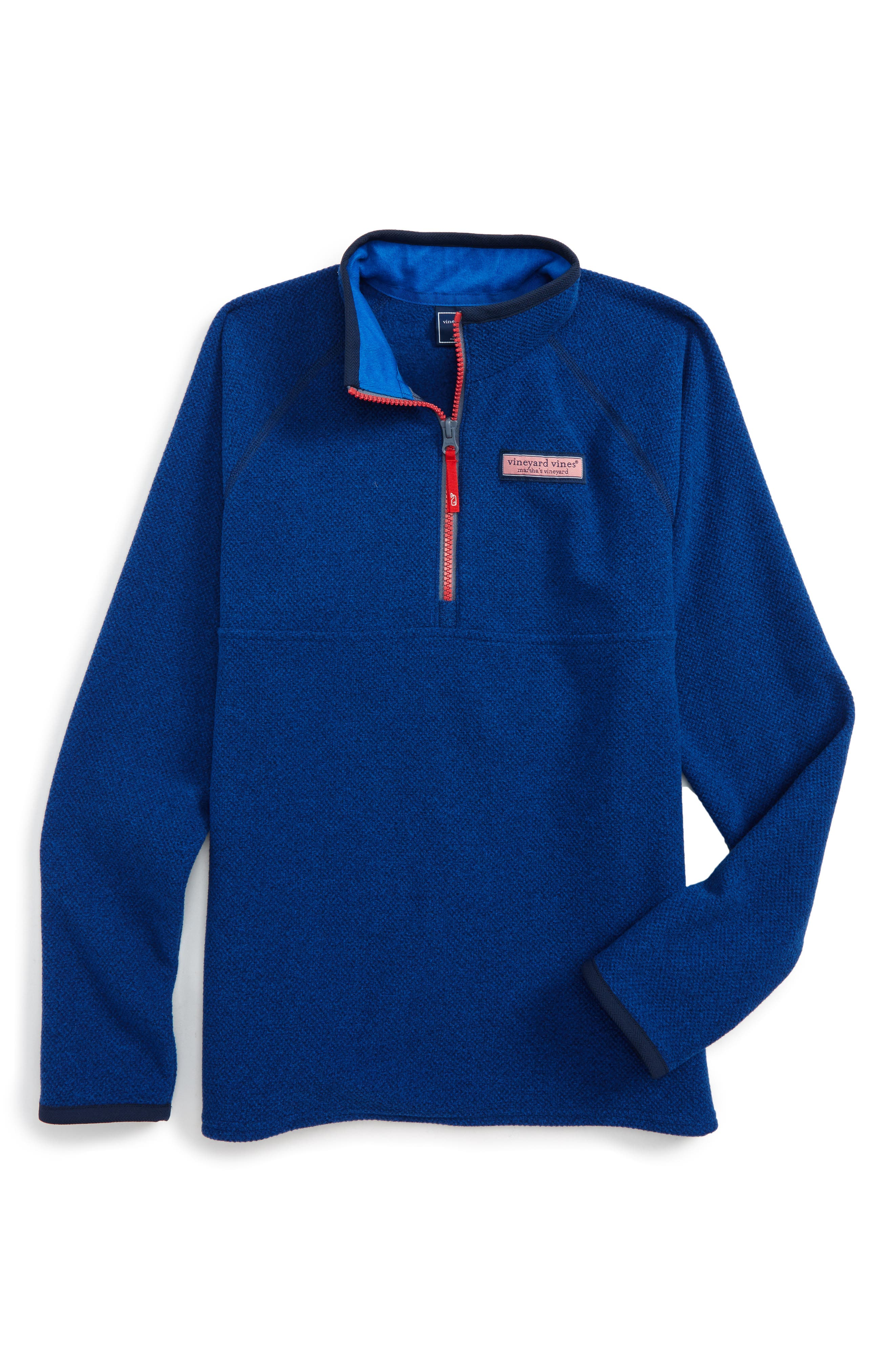 Alternate Image 1 Selected - vineyard vines Quarter Zip Sweater (Big Boys)