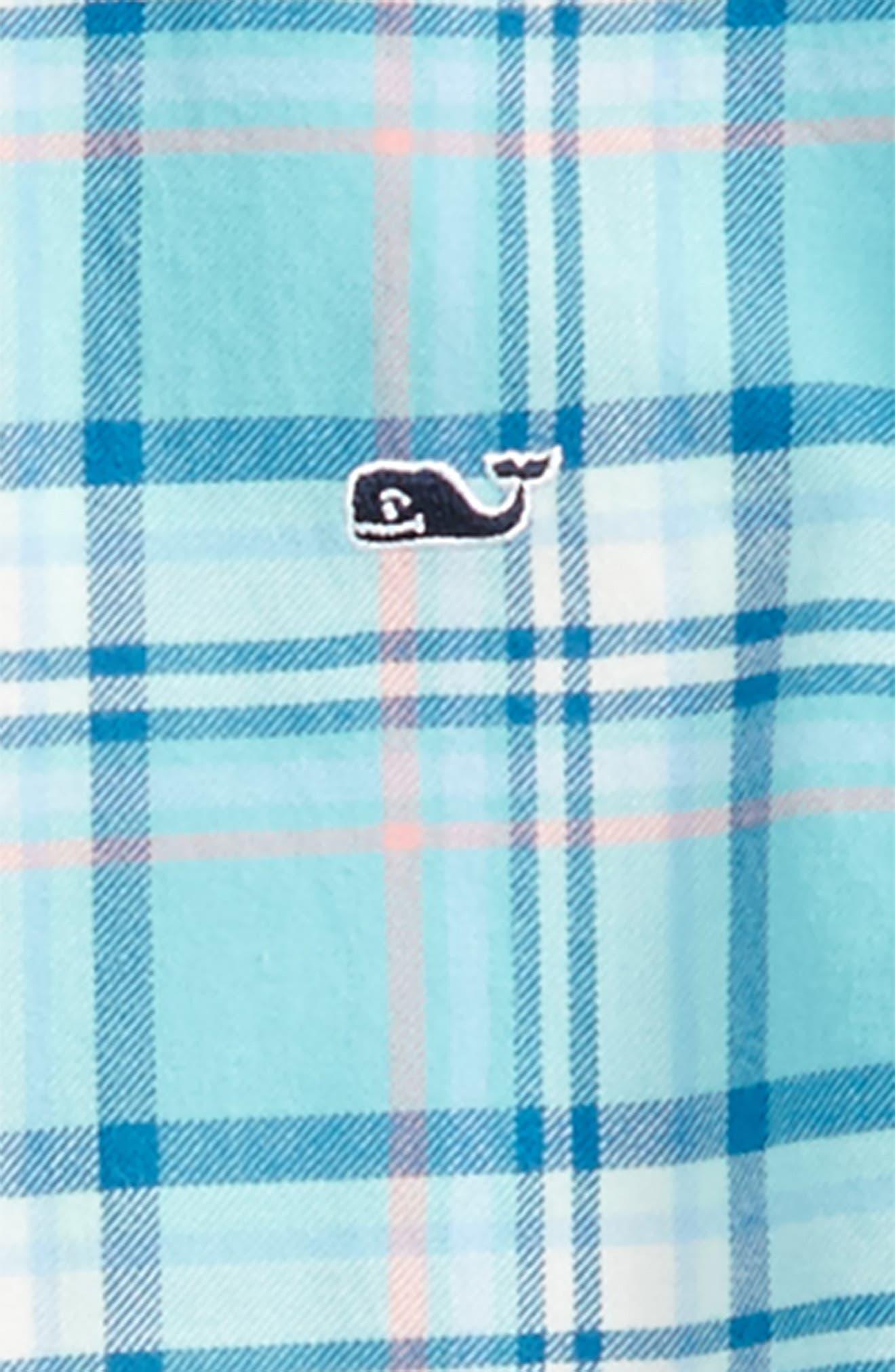Loblolly Plaid Shirt,                             Alternate thumbnail 2, color,                             Aqua Ocean