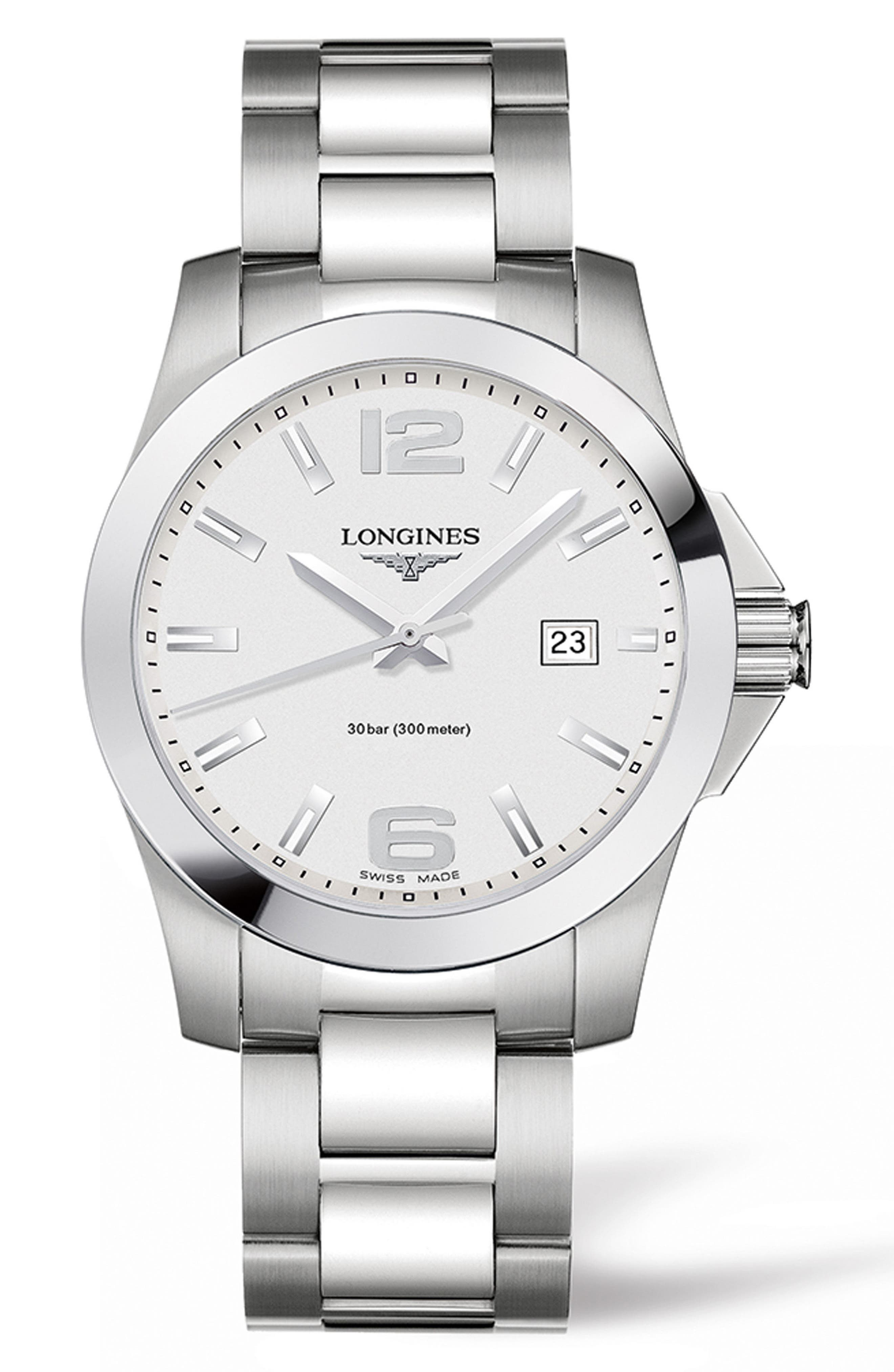 Main Image - Longines Conquest Bracelet Watch, 41mm