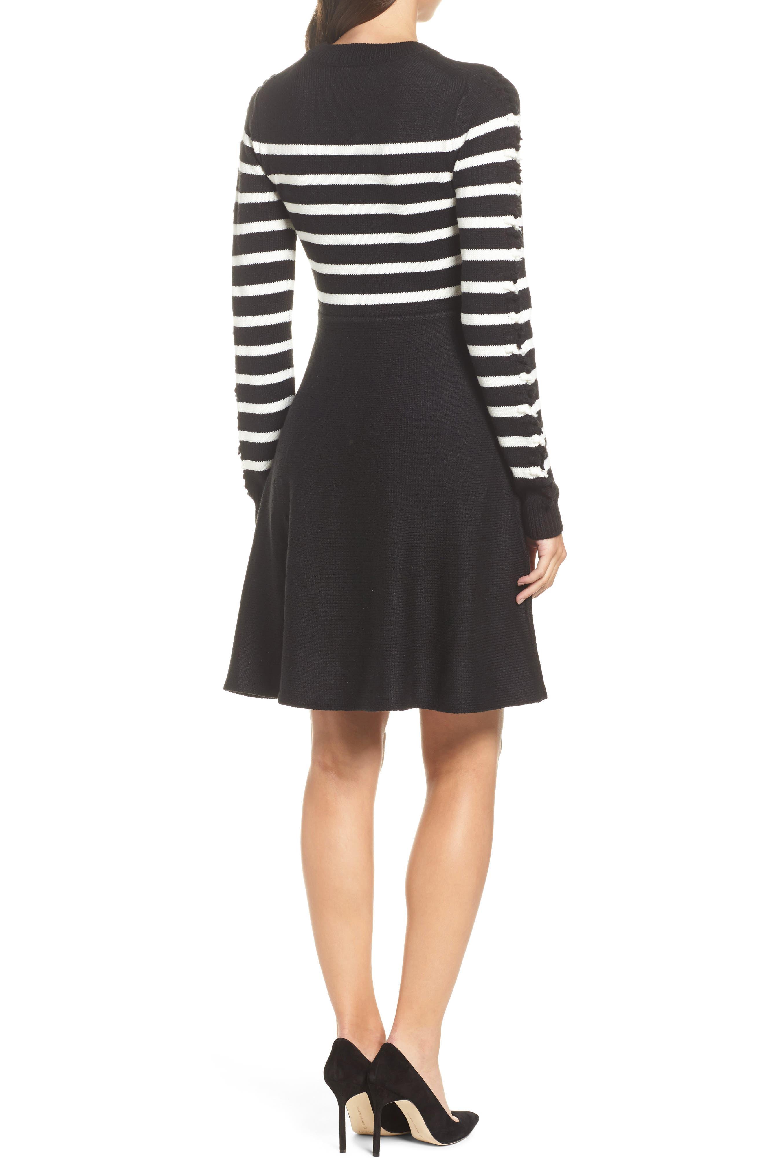Alternate Image 2  - Eliza J Fit & Flare Sweater Dress (Regular & Petite)