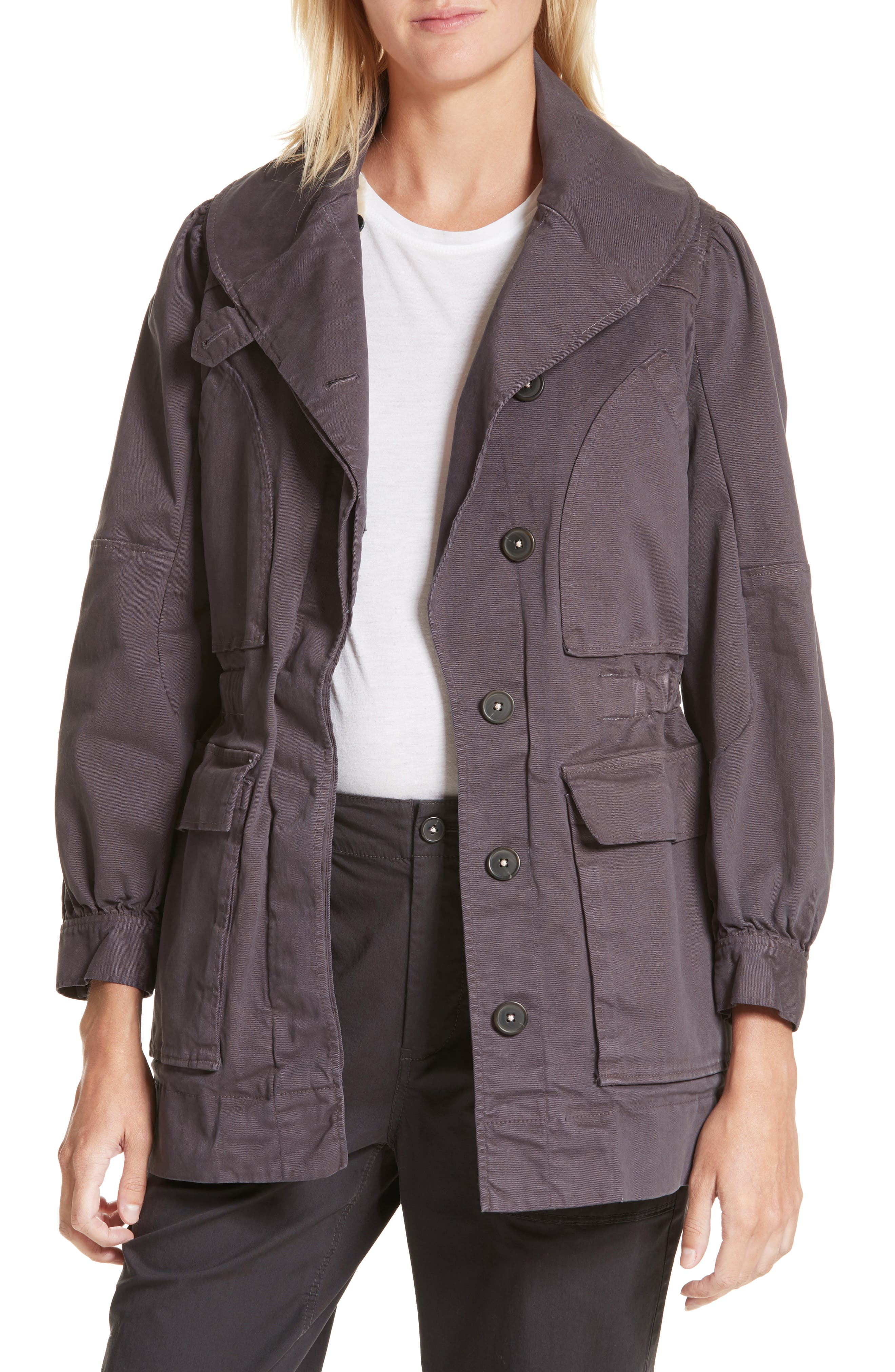 Twill Utility Jacket,                         Main,                         color, Shadow