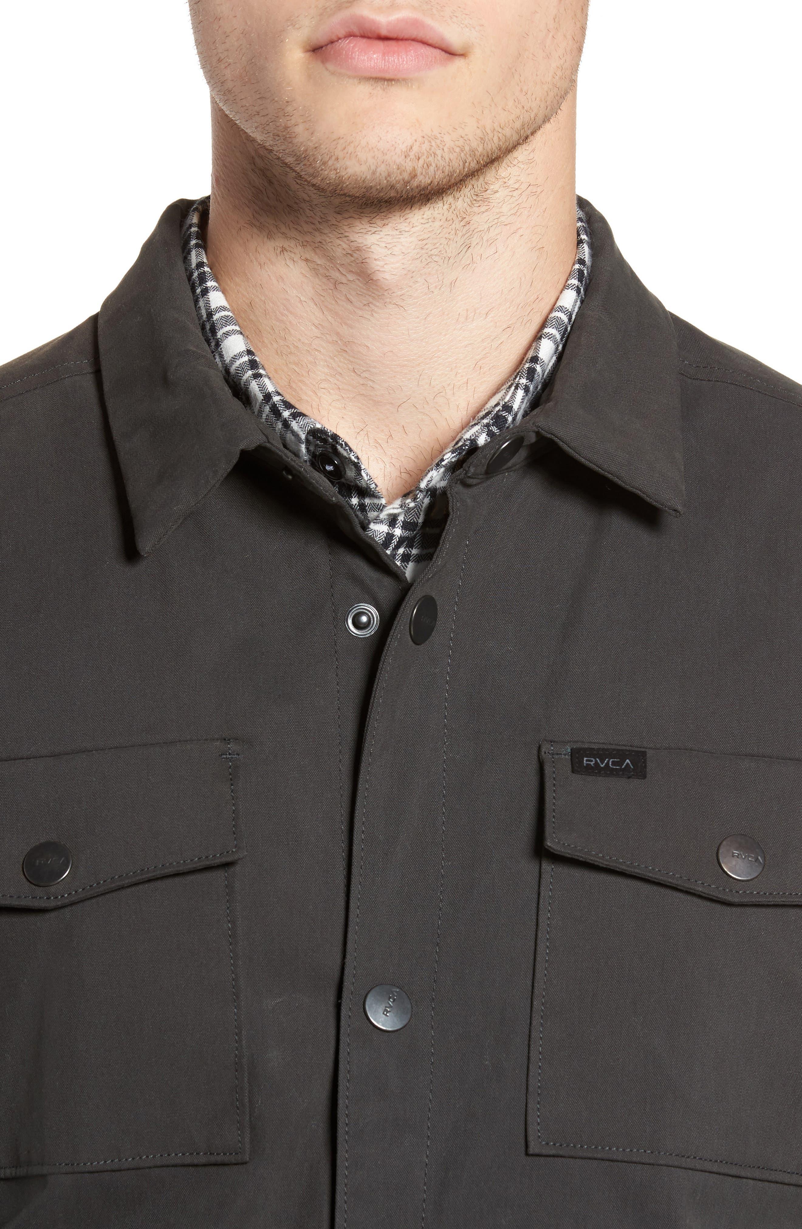 Officer's Shirt Jacket,                             Alternate thumbnail 4, color,                             Pirate Black