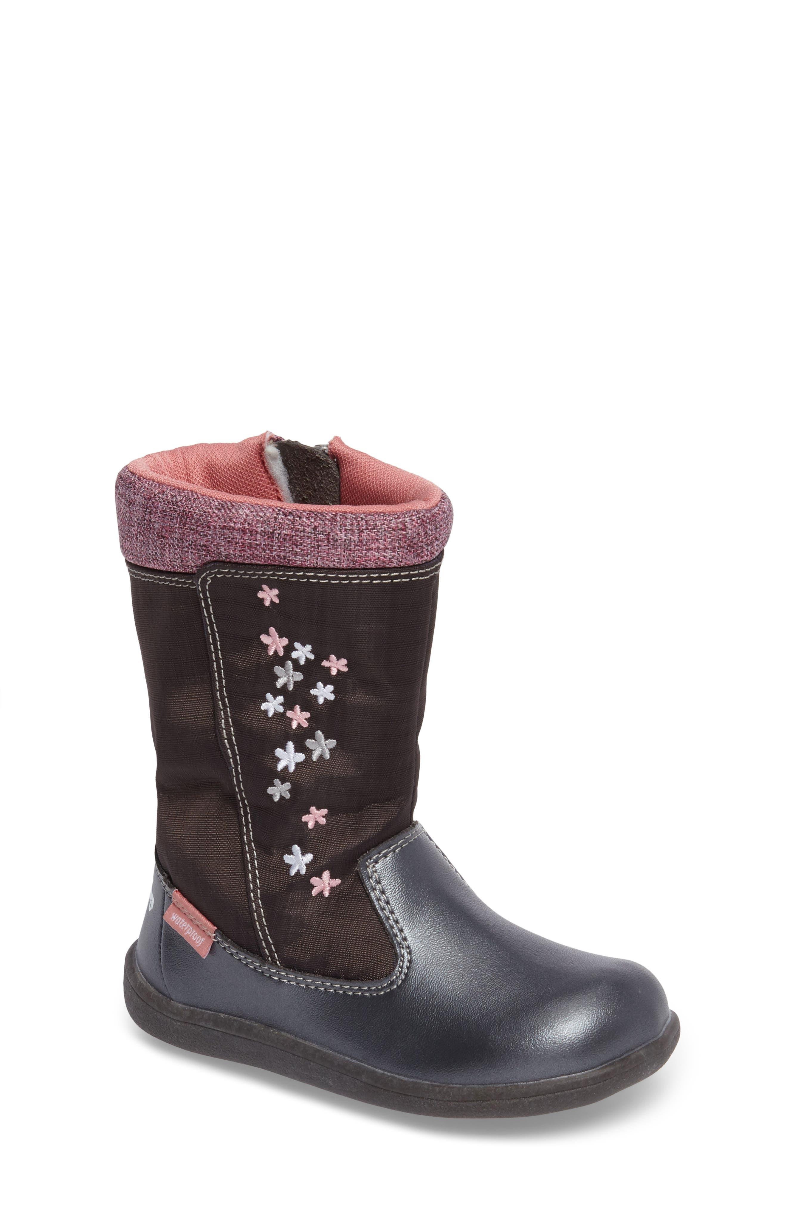 See Kai Run 'Hallie' Waterproof Boot (Baby, Walker & Toddler)