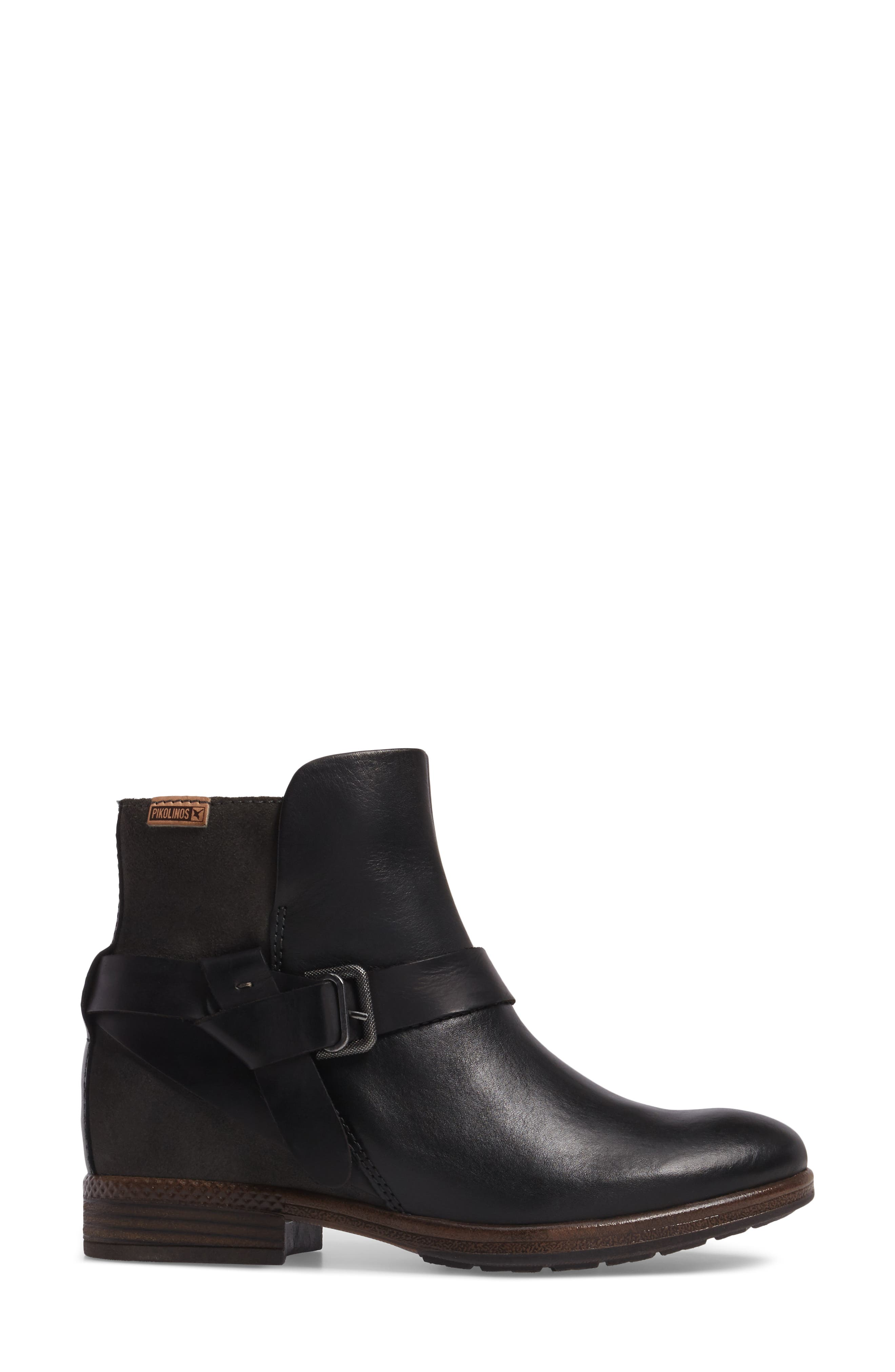 Ordino Bootie,                             Alternate thumbnail 3, color,                             Black Lead Leather