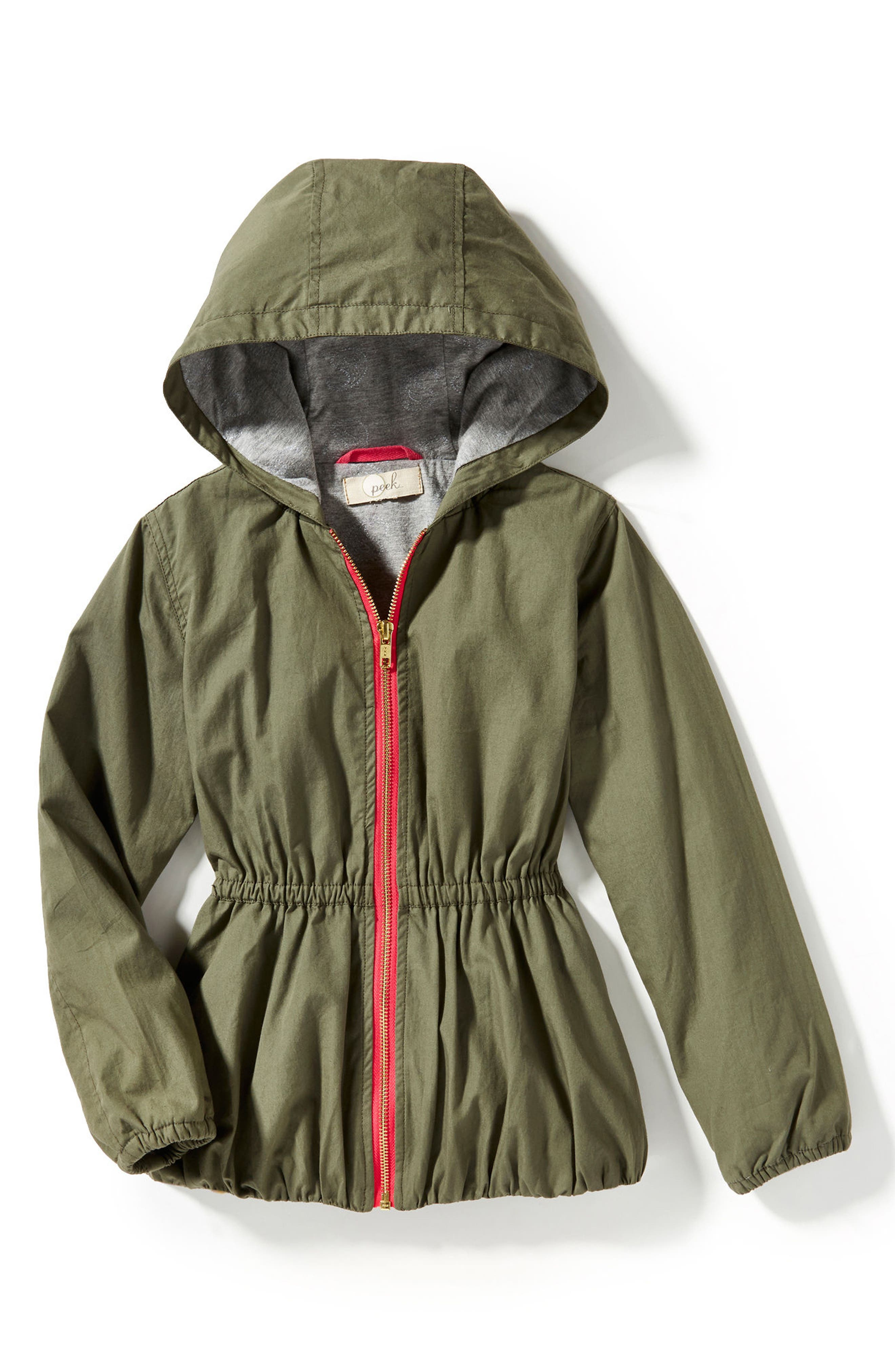 Gwen Hooded Jacket,                             Main thumbnail 1, color,                             Olive