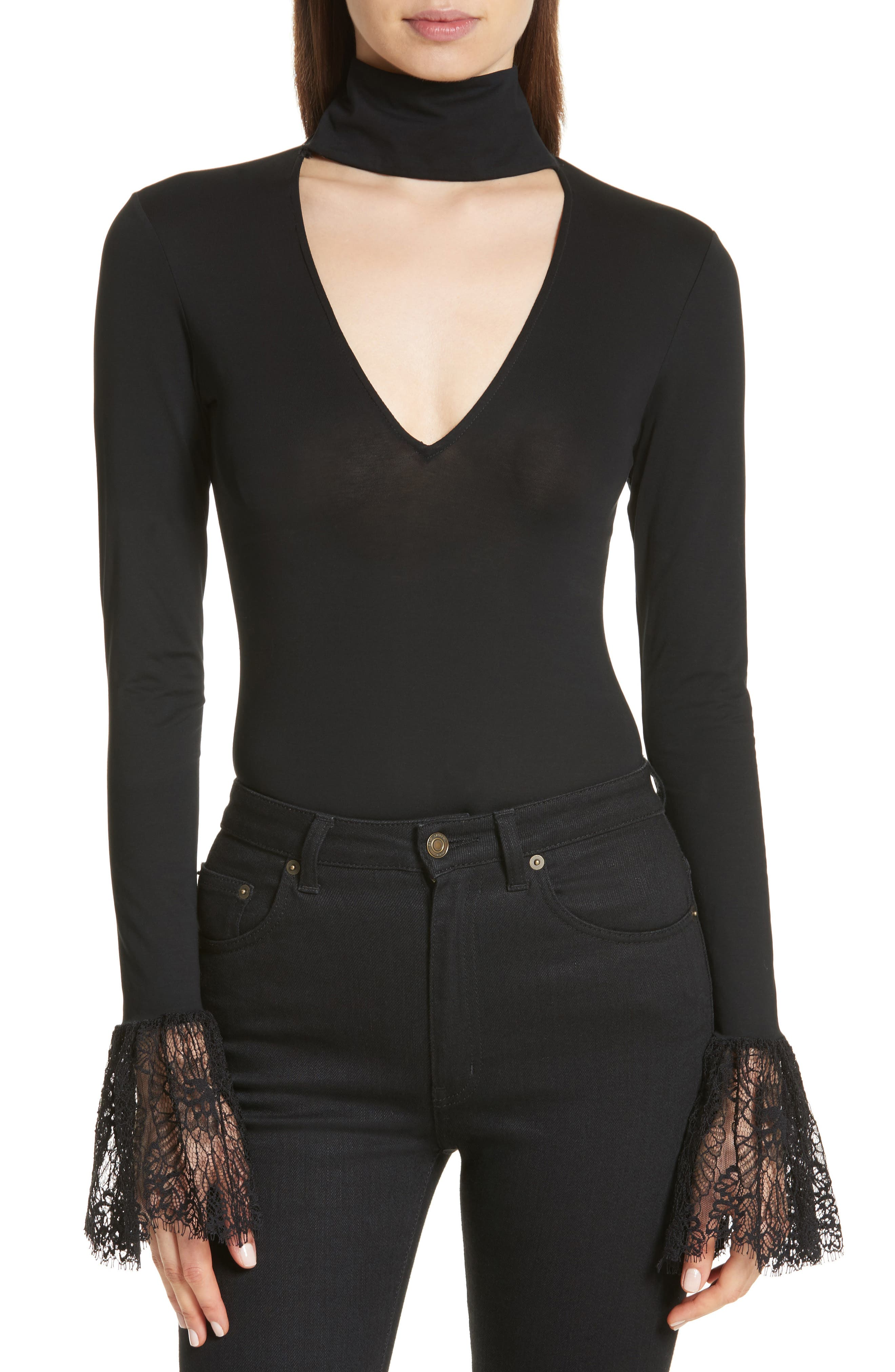 Elara Bodysuit,                             Main thumbnail 1, color,                             Black