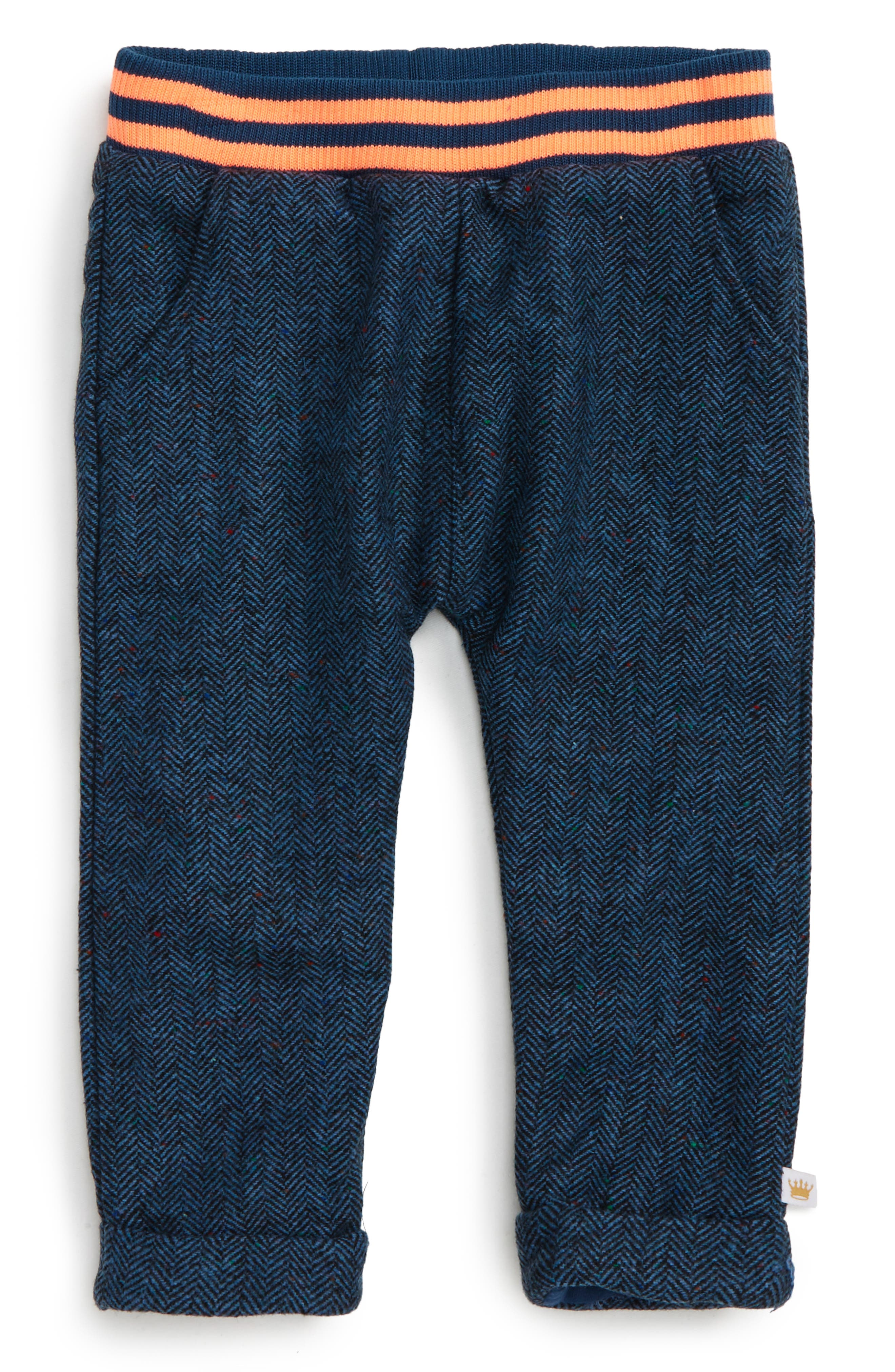 Alternate Image 1 Selected - Rosie Pope Twill Sweatpants (Baby Boys)