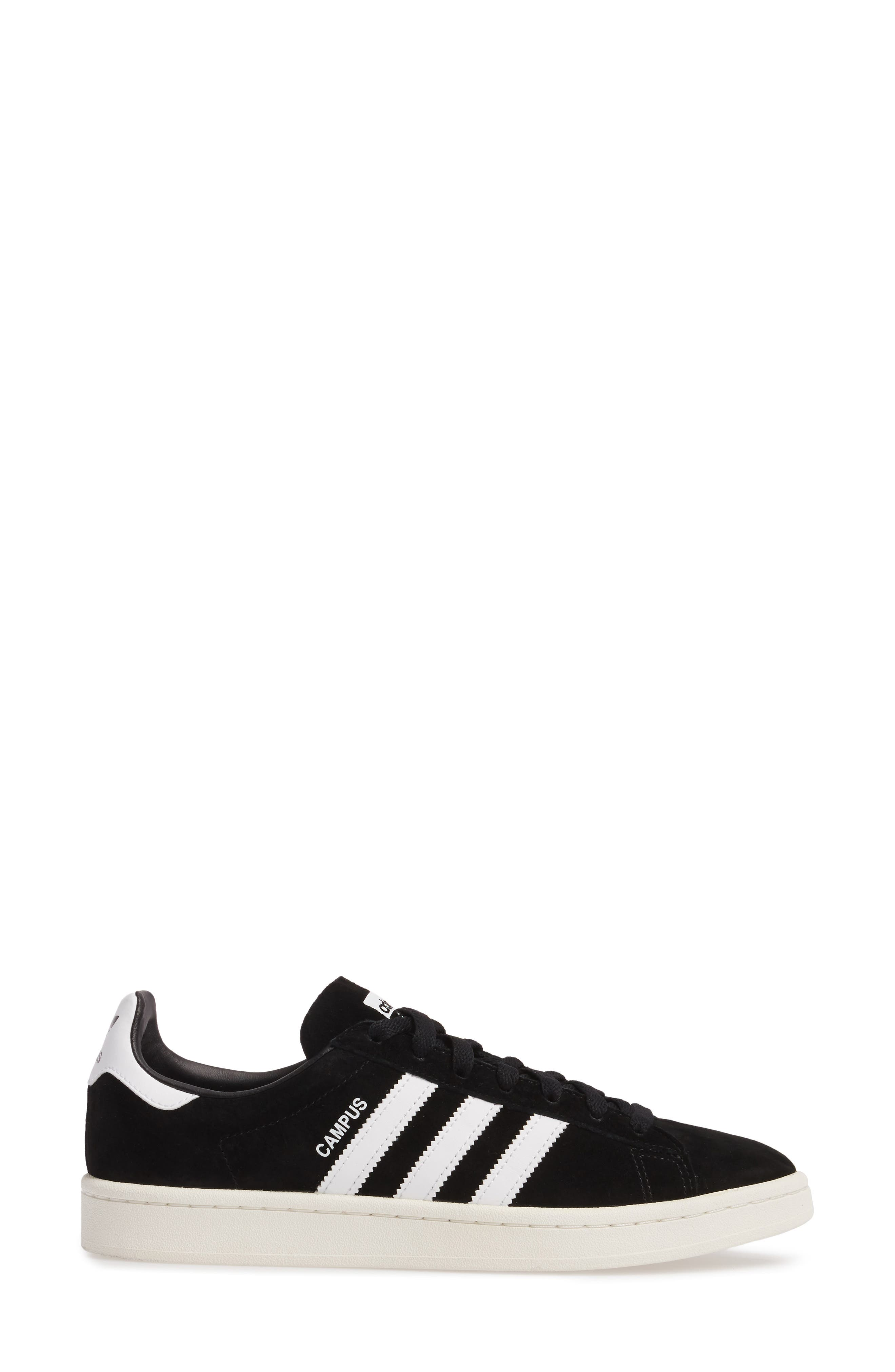 'Campus' Sneaker,                             Alternate thumbnail 3, color,                             Core Black/ White