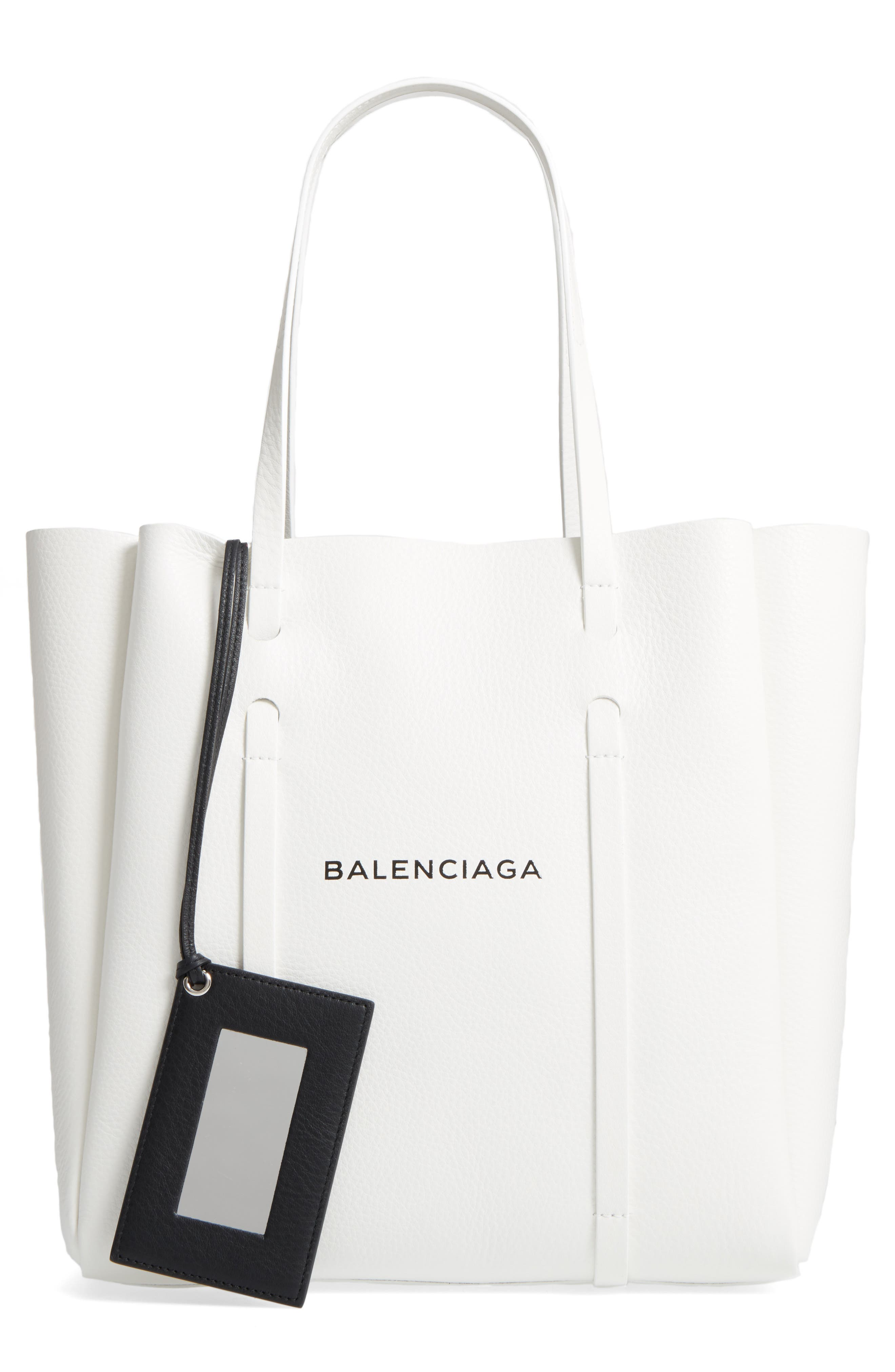 Alternate Image 1 Selected - Balenciaga Small Everyday Logo Calfskin Tote