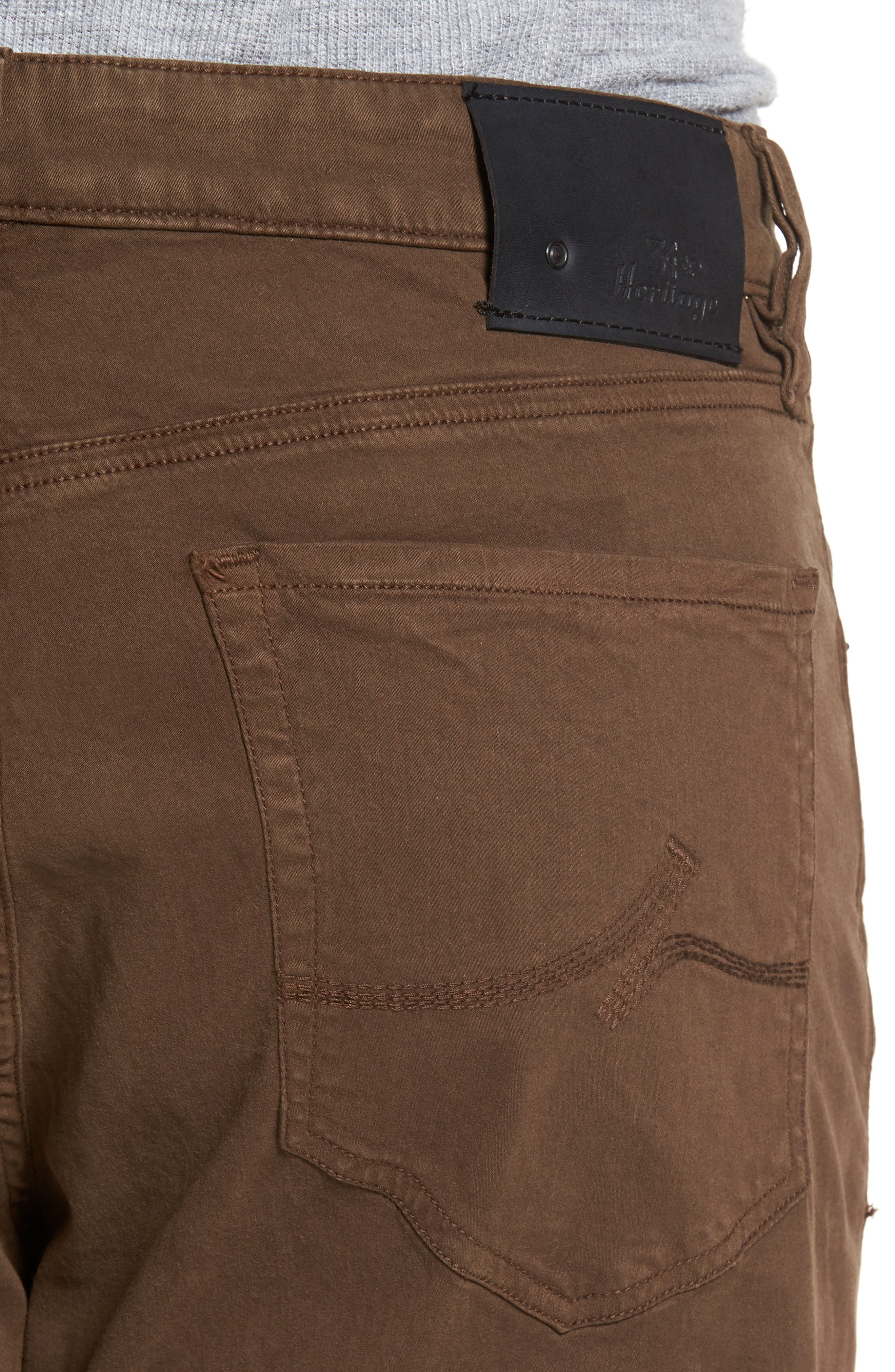Alternate Image 4  - 34 Heritage Charism Relaxed Fit Jeans (Choco Twill)