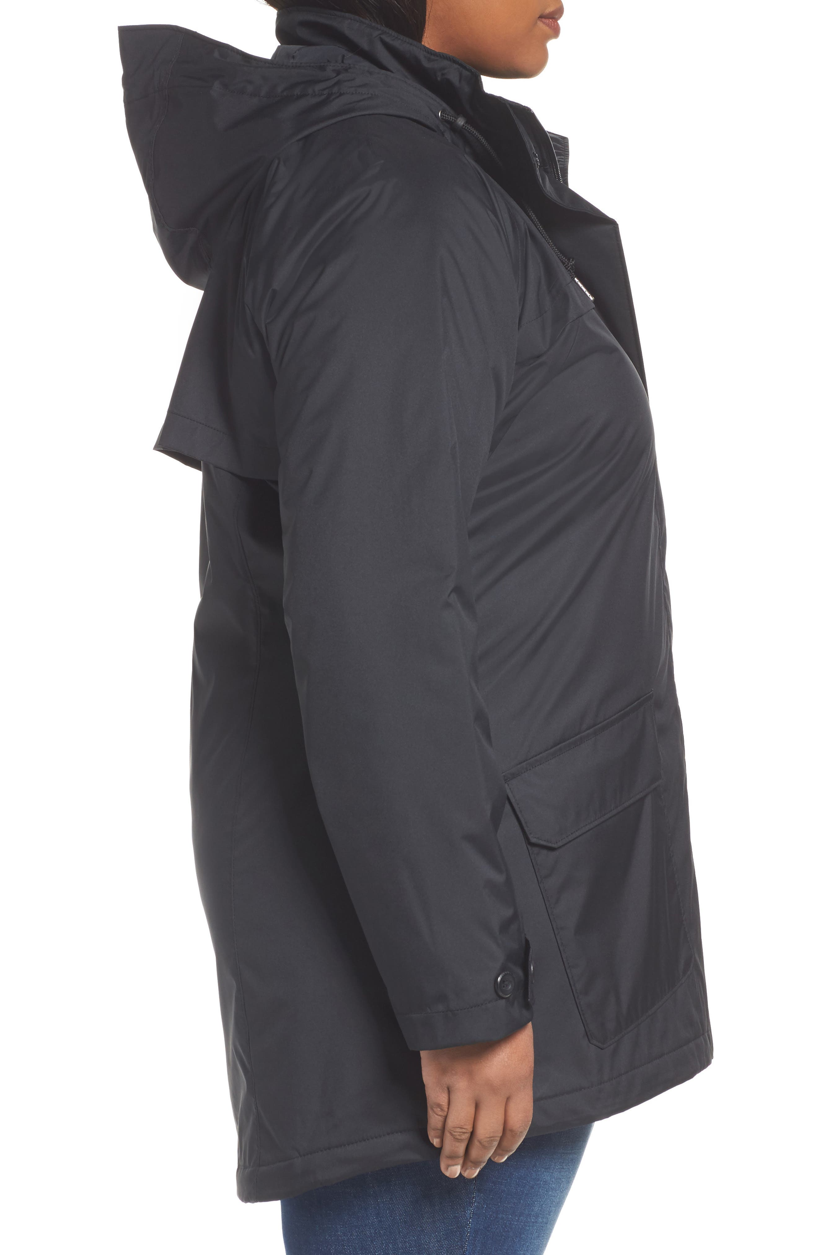 Alternate Image 3  - Columbia Lookout Crest Omni-Tech Waterproof Jacket (Plus Size)