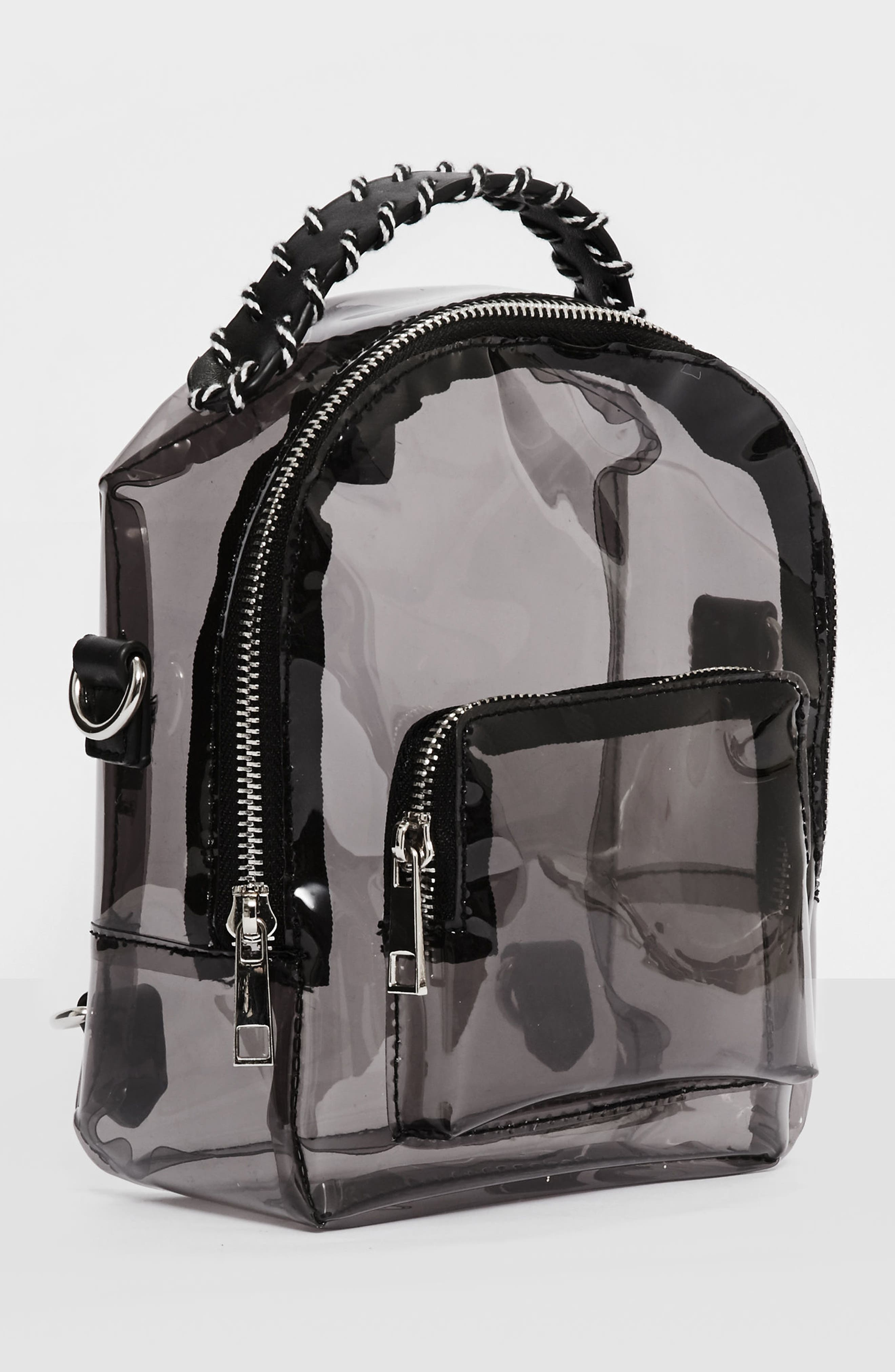 Perspex<sup>®</sup> Mini Backpack,                             Alternate thumbnail 3, color,                             Black