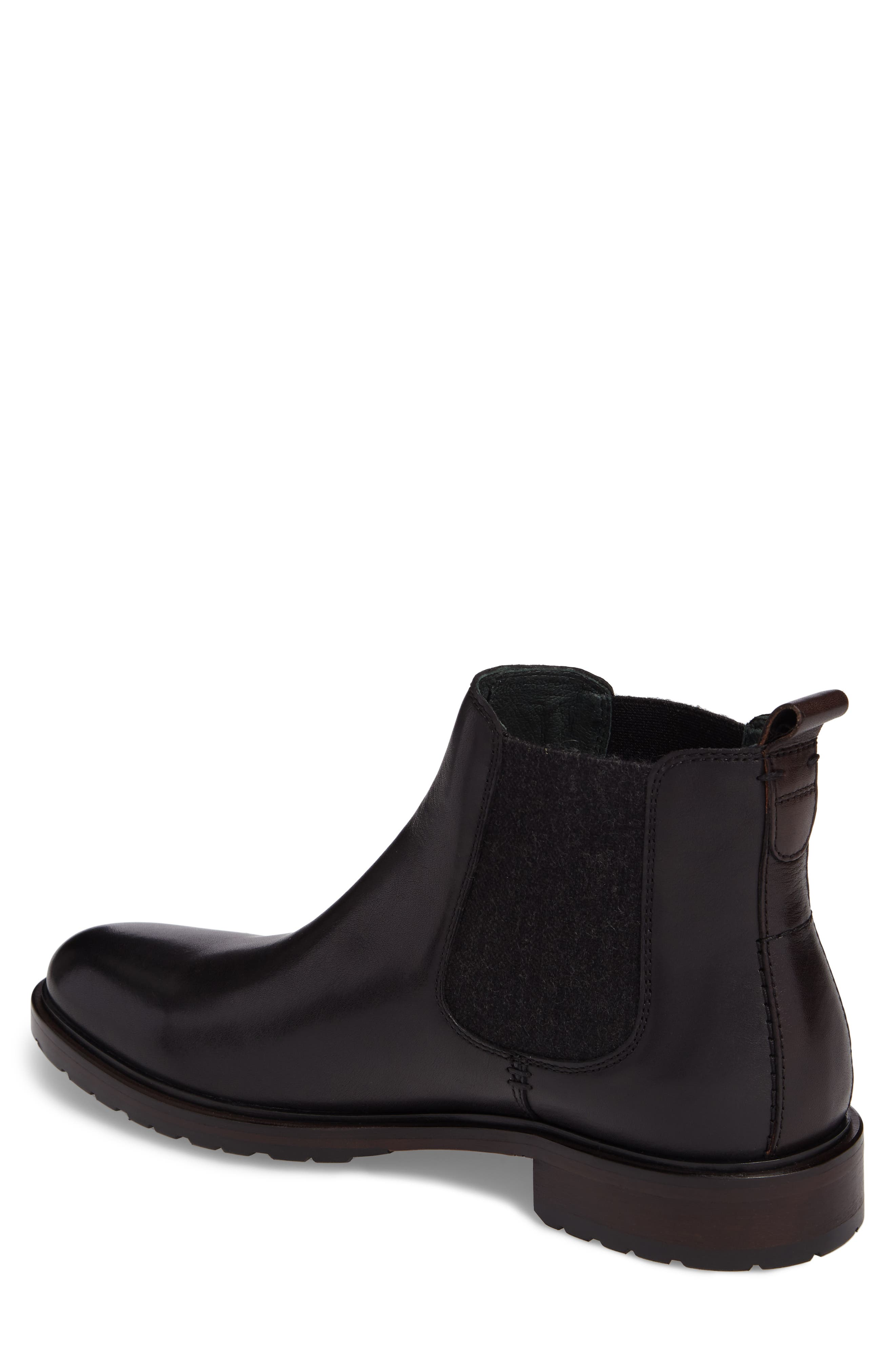 Myles Chelsea Boot,                             Alternate thumbnail 2, color,                             Black Leather