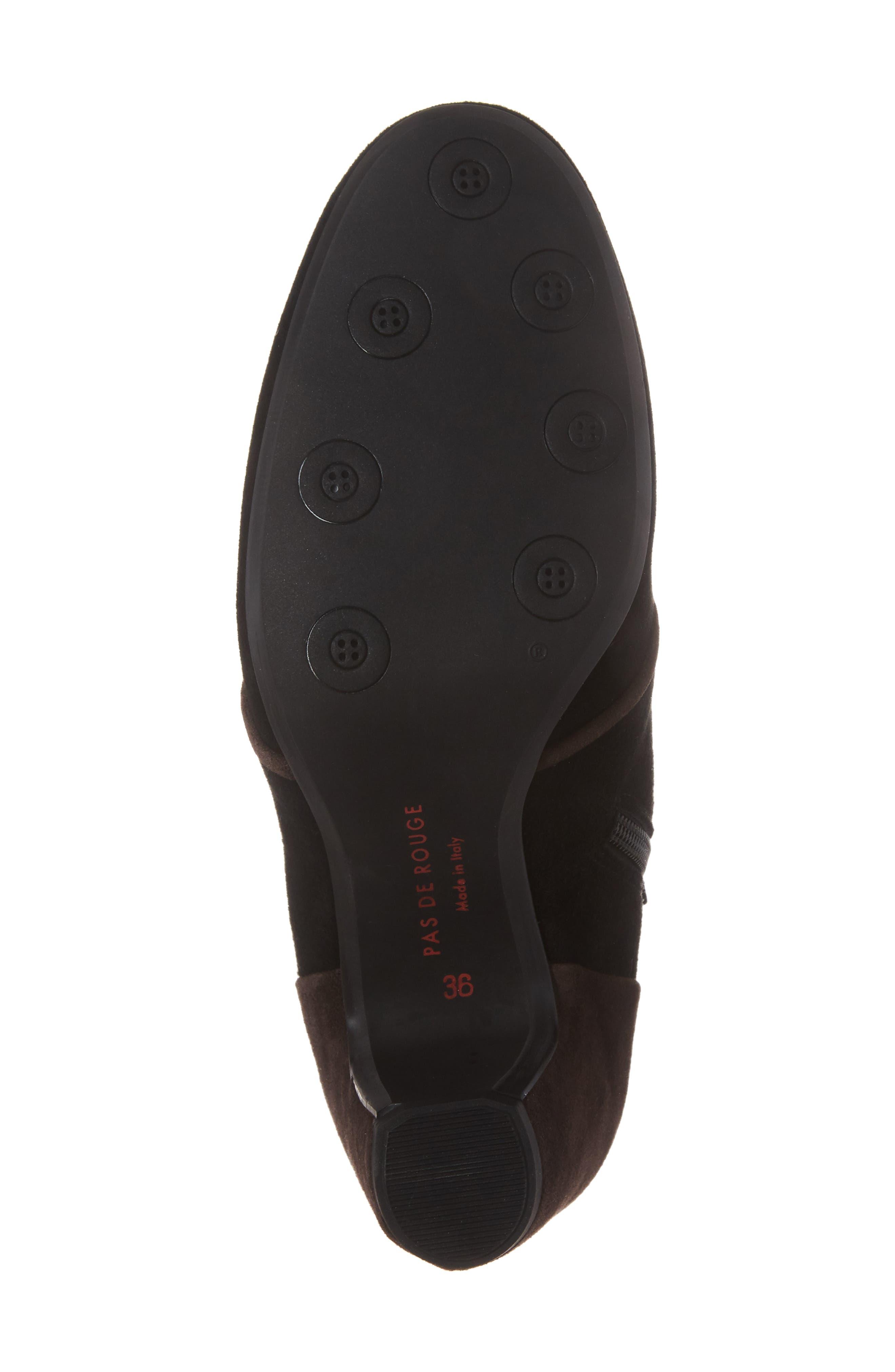 Alternate Image 6  - Pas de Rouge Button Detail Bootie (Women)
