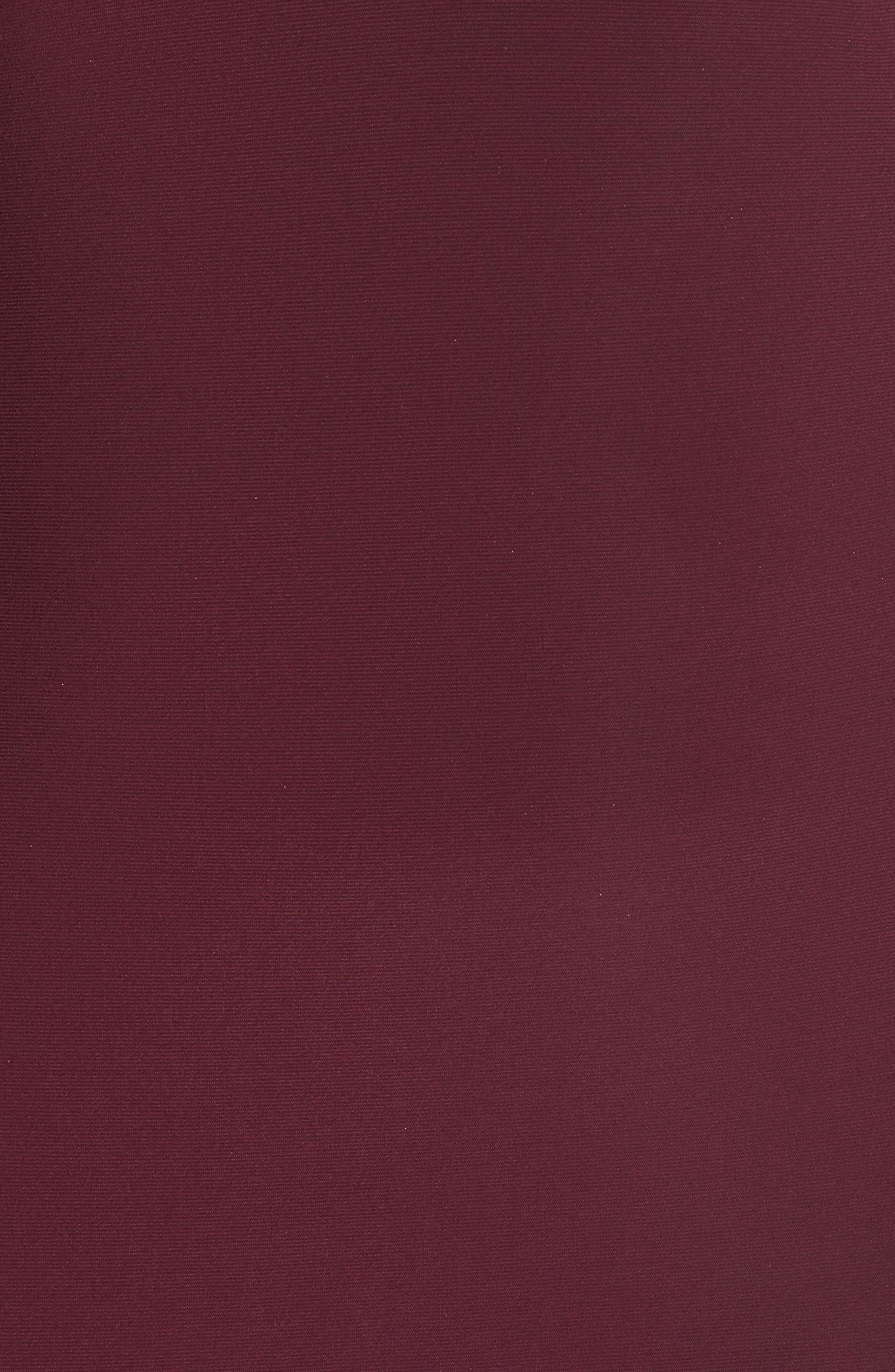 Alternate Image 5  - Xscape Embellished Back Jersey Gown (Plus Size)