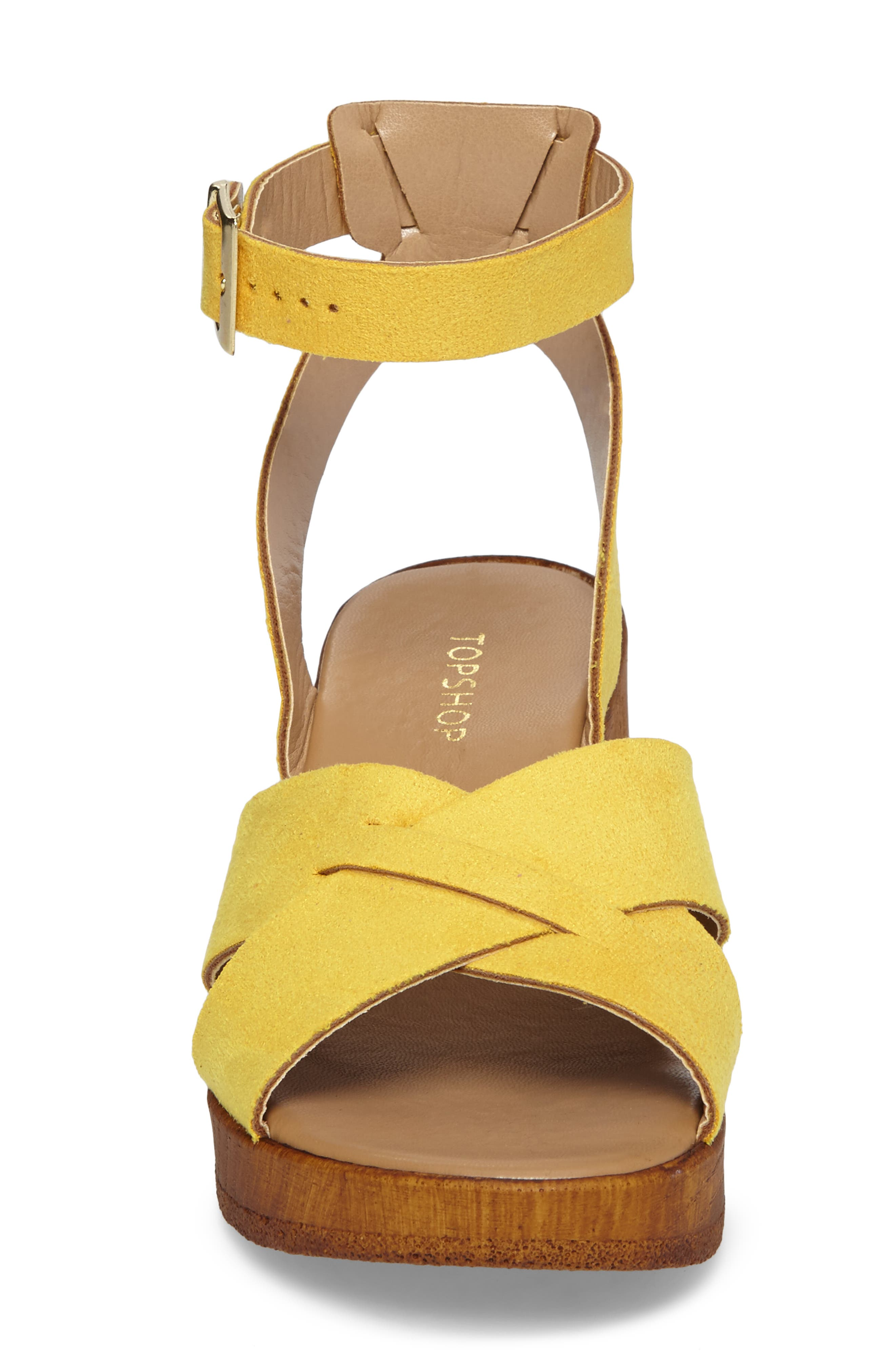 Dolly Block Heel Sandal,                             Alternate thumbnail 6, color,                             Yellow
