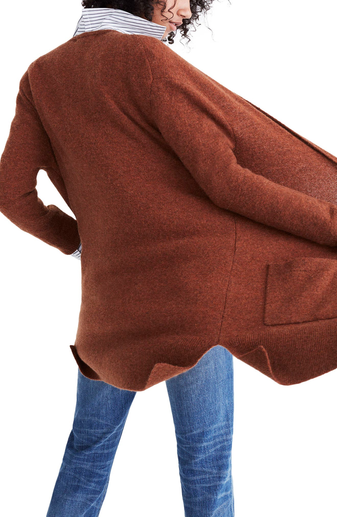 Kent Cardigan Sweater,                             Alternate thumbnail 2, color,                             Heather Clay