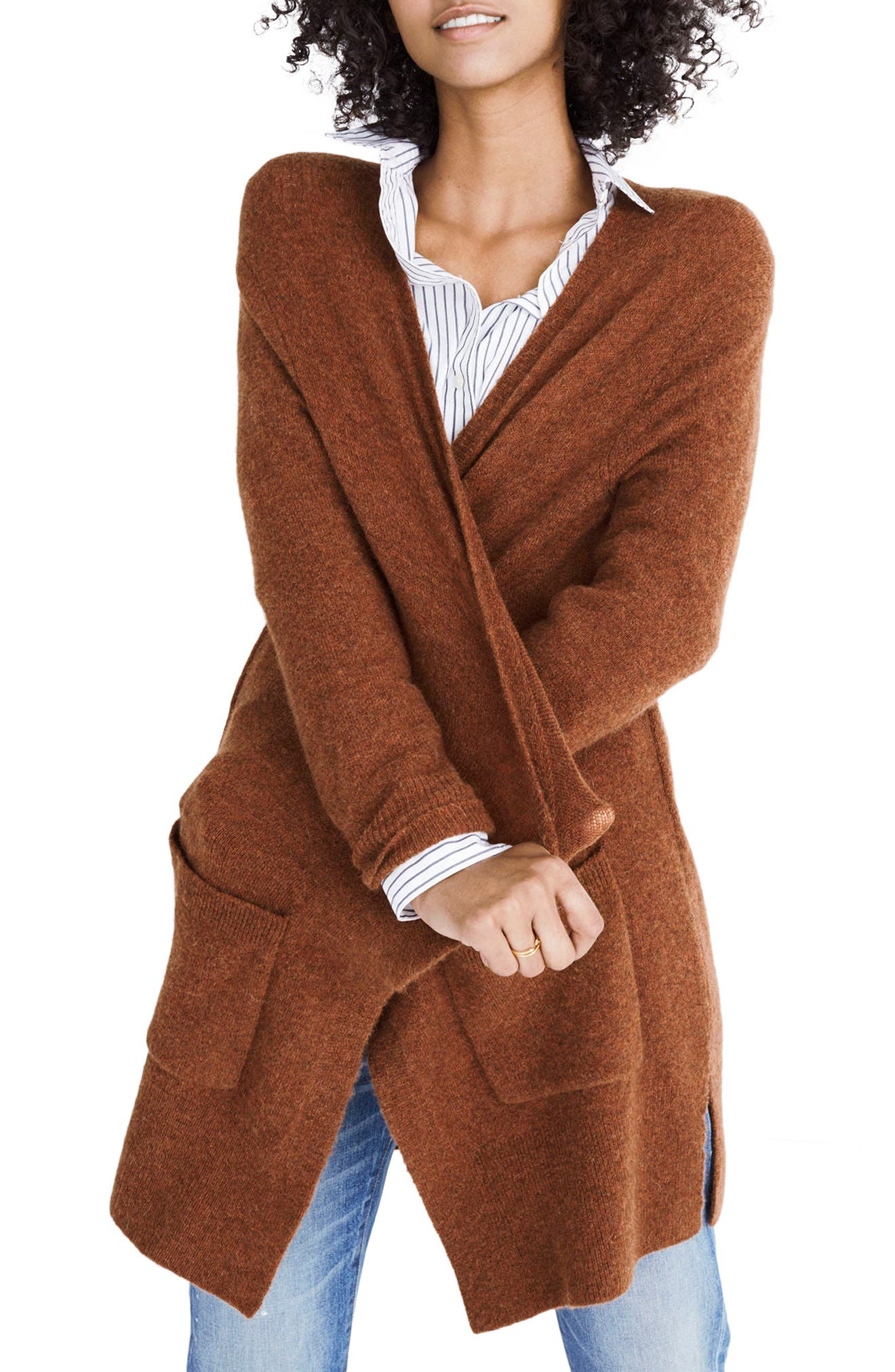 Kent Cardigan Sweater,                         Main,                         color, Heather Clay