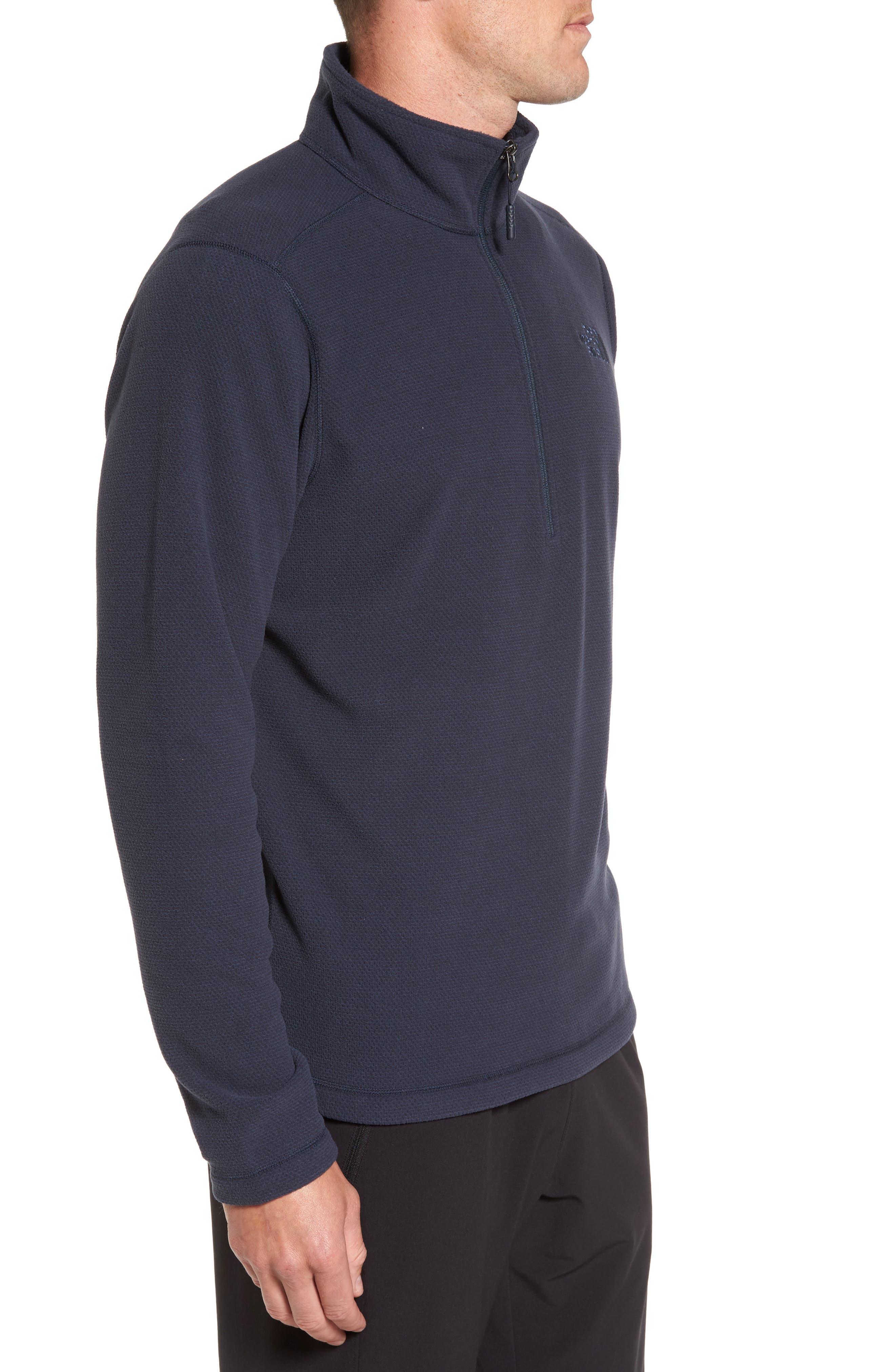 Texture Cap Rock Quarter Zip Fleece Jacket,                             Alternate thumbnail 3, color,                             Urban Navy Texture