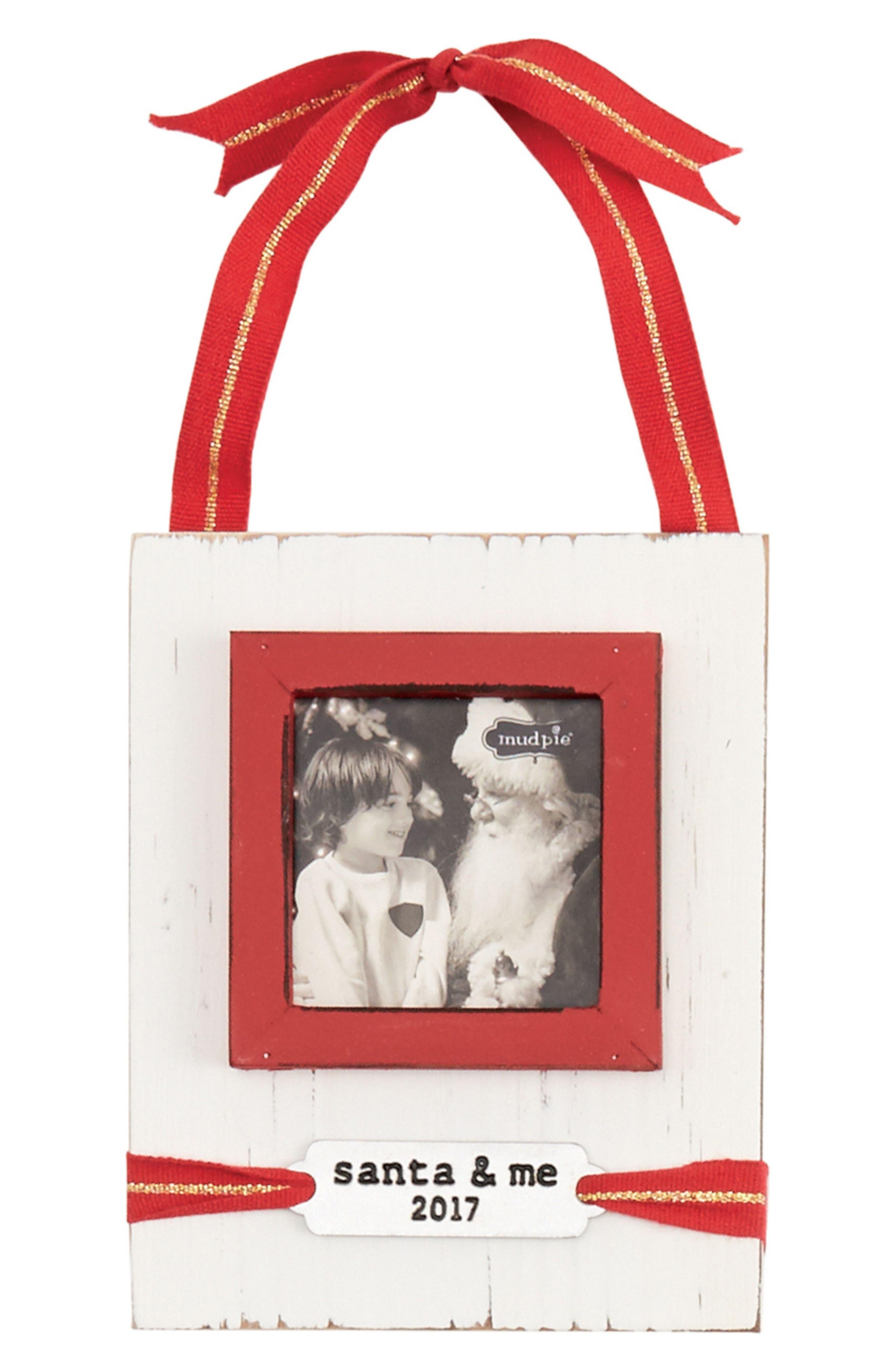 Alternate Image 1 Selected - Mud Pie Santa & Me Frame Ornament