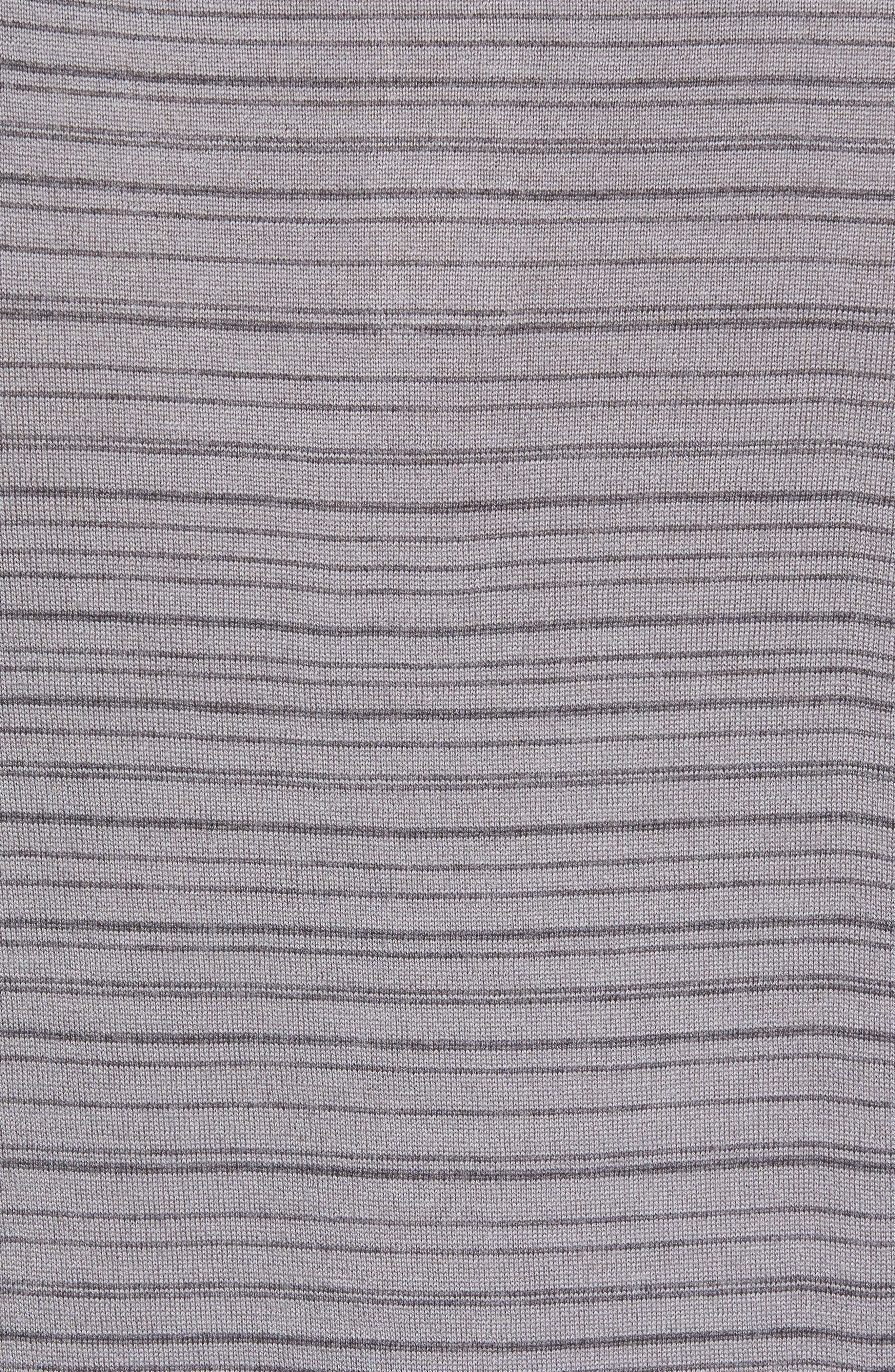 Alternate Image 5  - Gant Stripe Merino Wool Polo Sweater