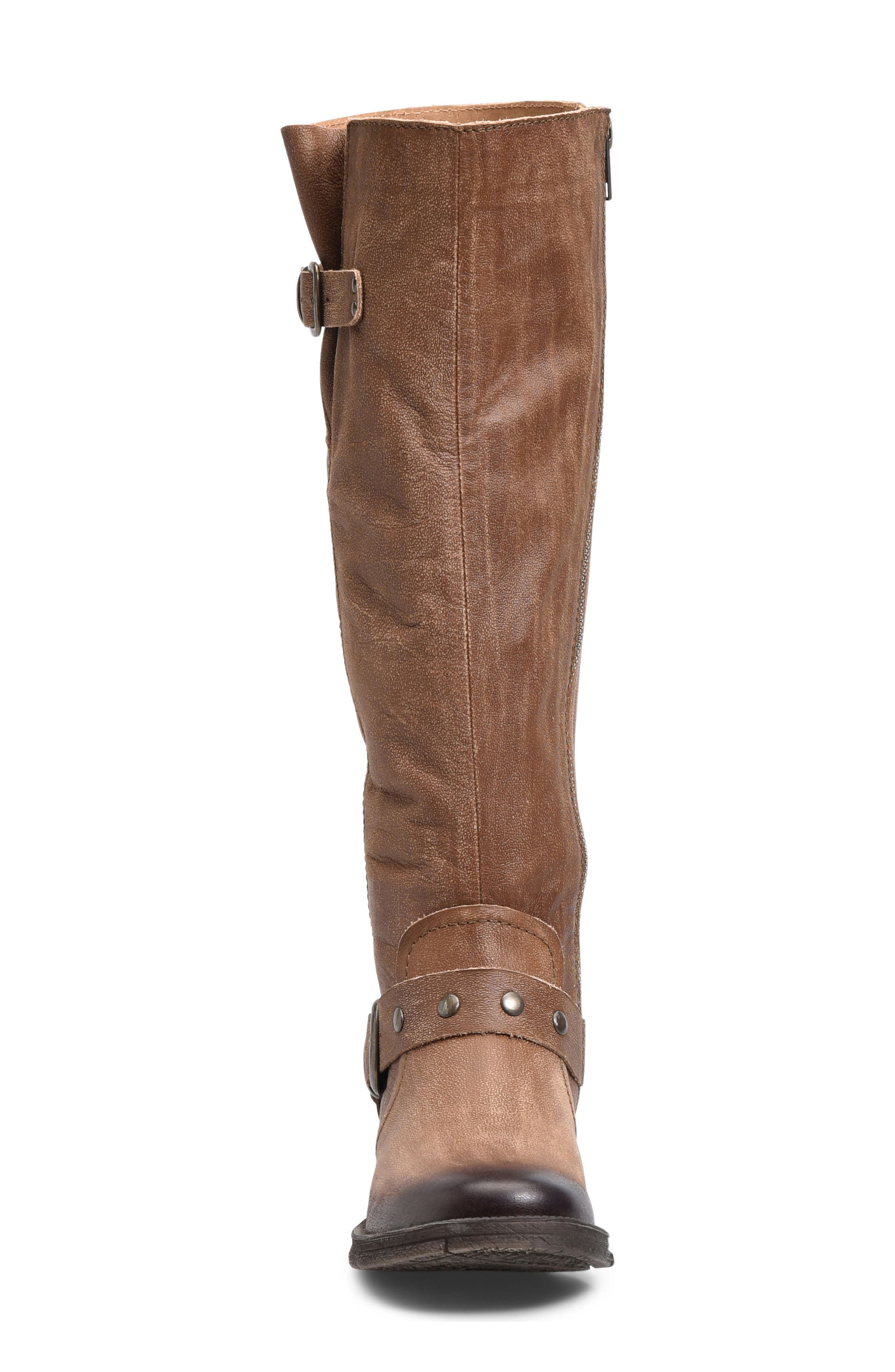 Ashland Knee High Boot,                             Alternate thumbnail 4, color,                             Brown Leather