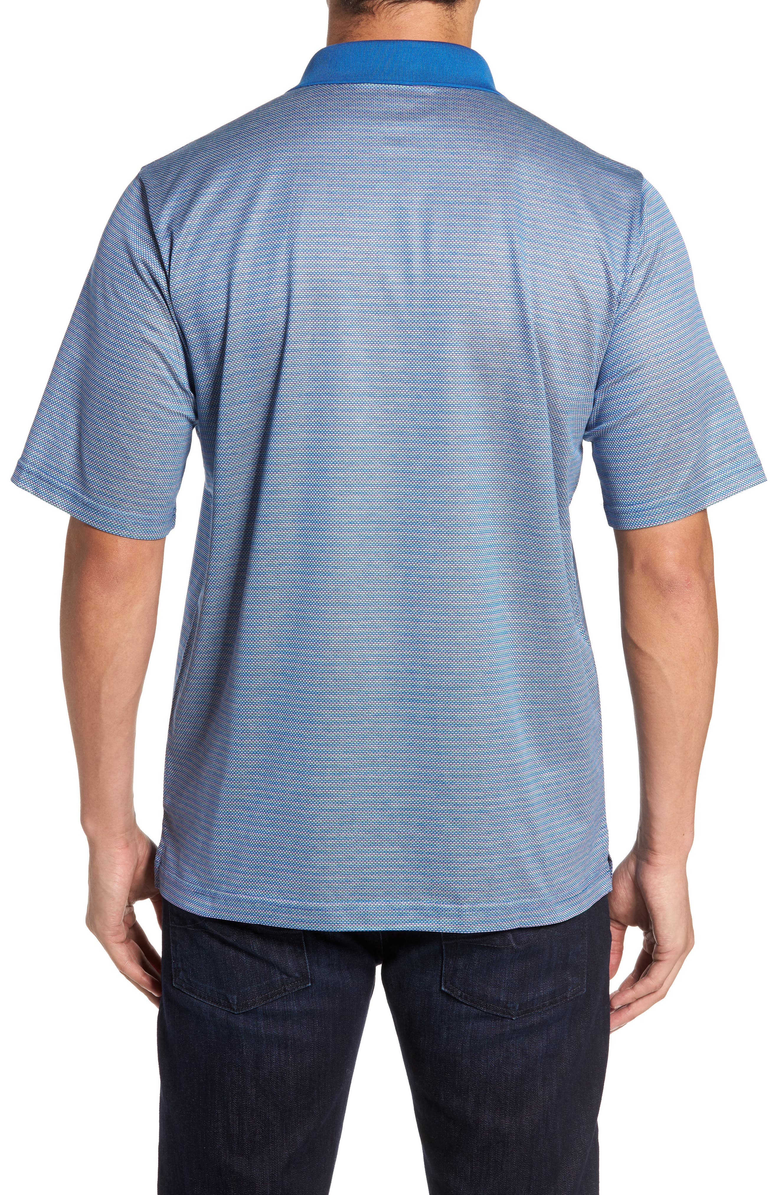 Classic Fit Dobby Polo,                             Alternate thumbnail 2, color,                             Classic Blue
