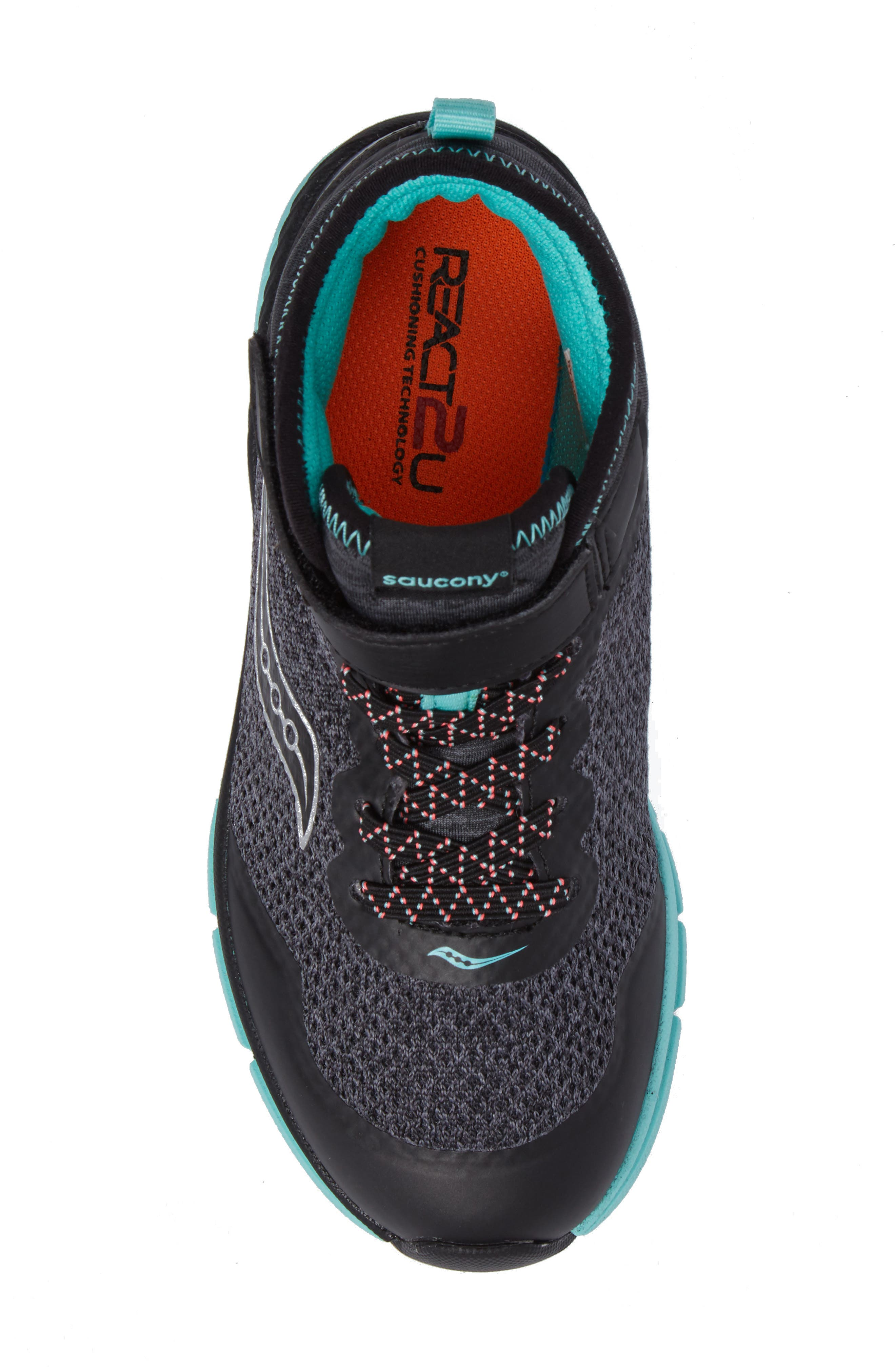 Ideal Sneaker,                             Alternate thumbnail 5, color,                             Black/ Turquoise